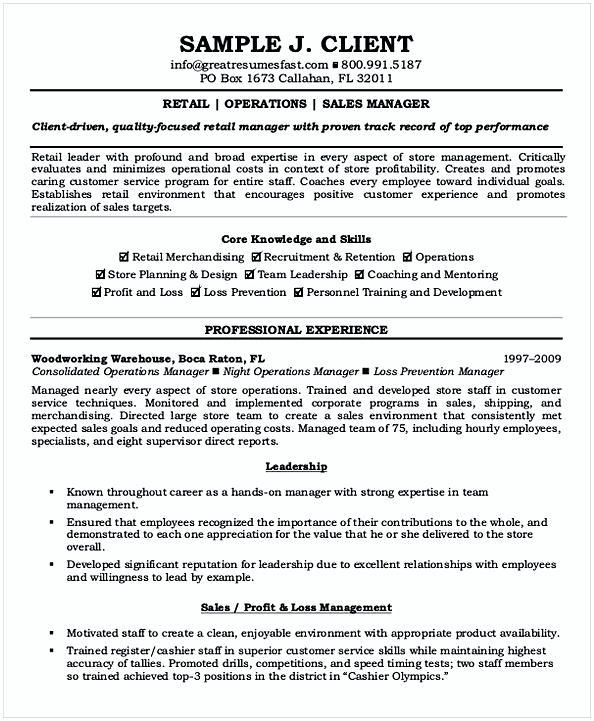 retail bank branch manager resume sample