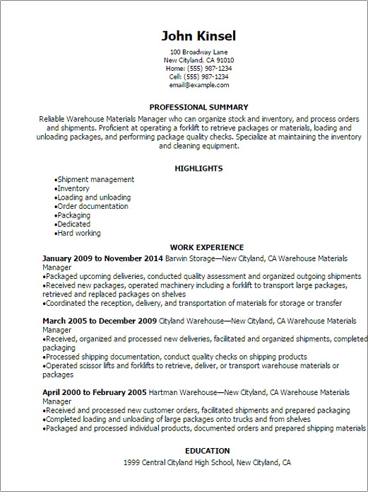 sample resume ask a manager