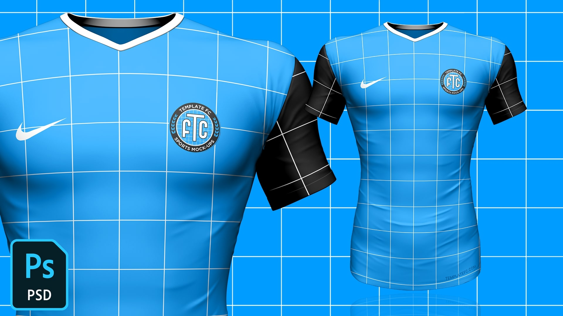 Download 3D Football/Soccer Jersey Template Mock-Up FREE - Template FC