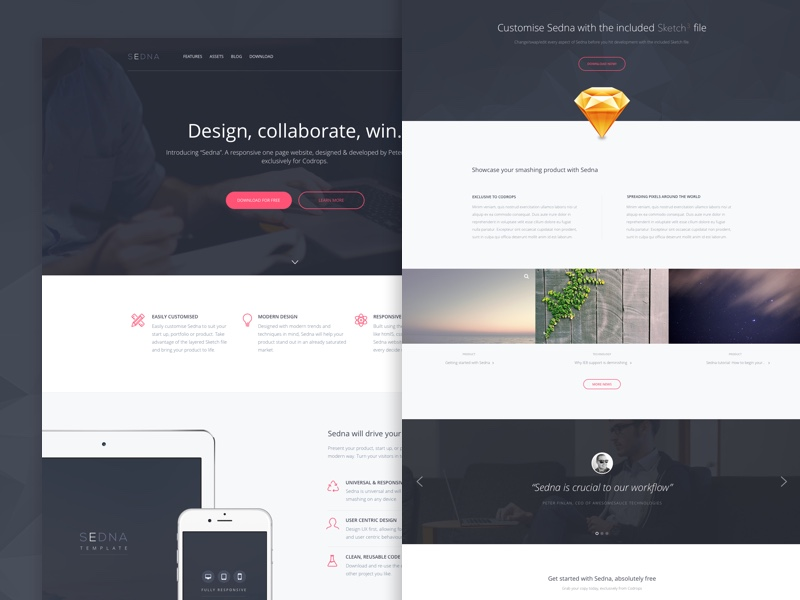 30 One Page Website Templates Built With HTML5 & CSS3