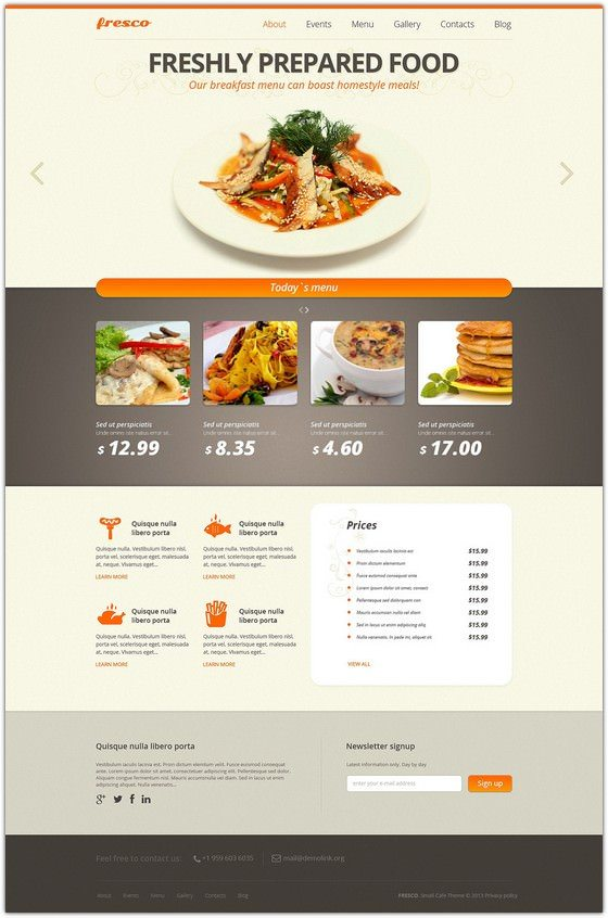 58 best restaurant cafe joomla templates 2018 templatefor cafe and restaurant responsive joomla template forumfinder Images