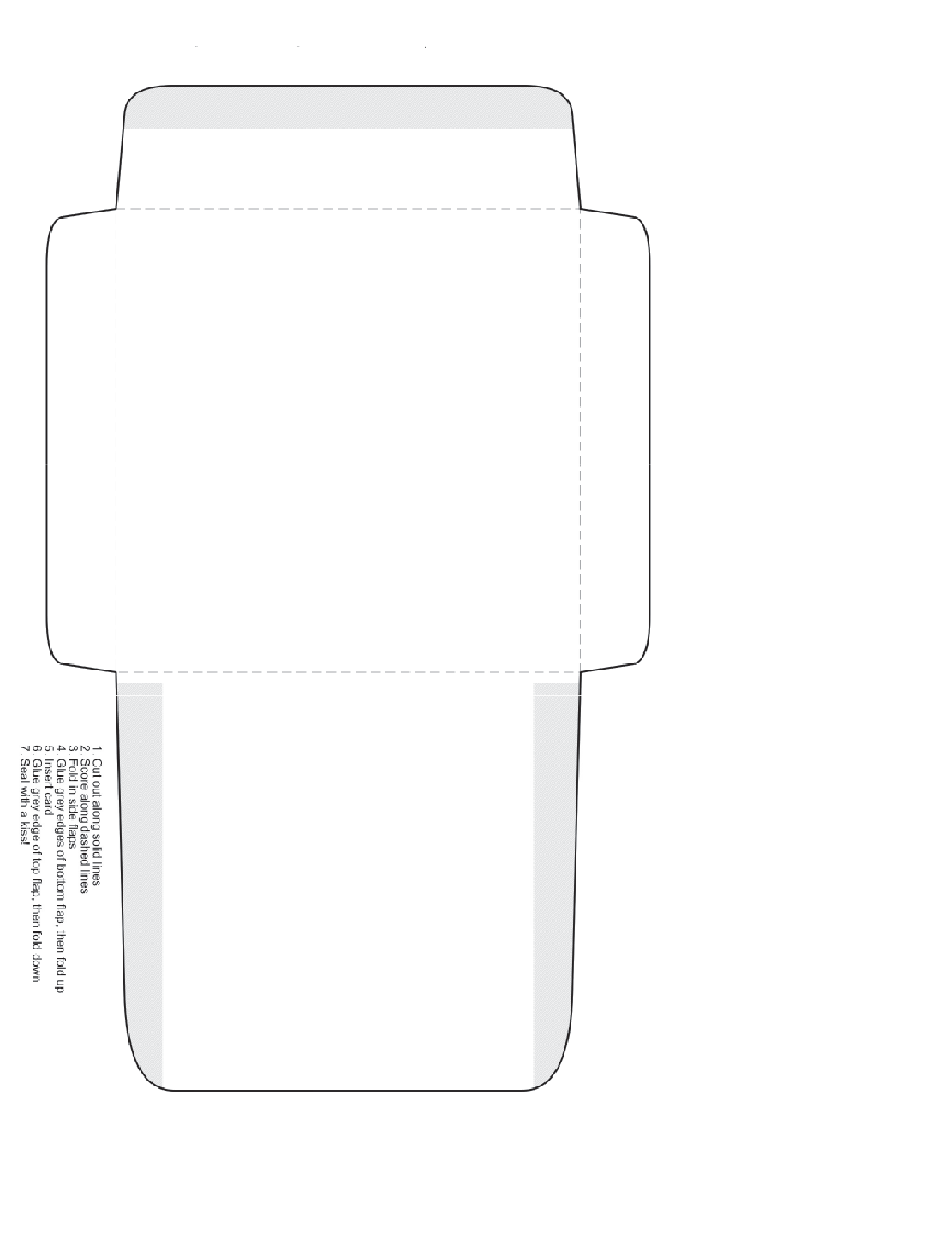 Envelope Cutout Template » Template Haven