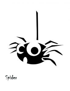 Halloween Pumpkin Carving Spider Template » Template Haven