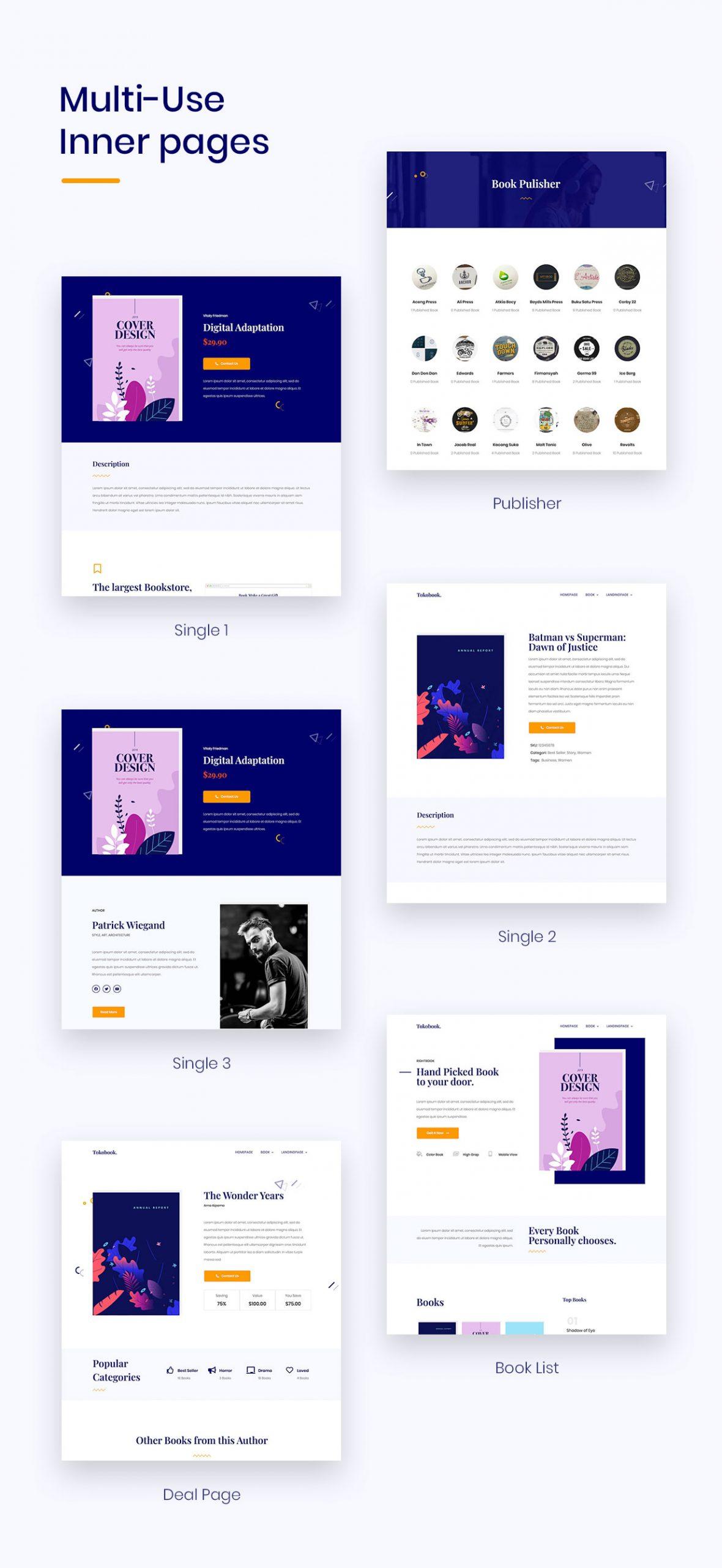 Bookup | Book Elementor Template Kit - 2