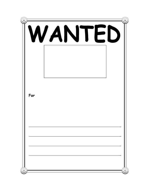 Modern Wanted Poster Template - FREE DOWNLOAD - Champlain ...