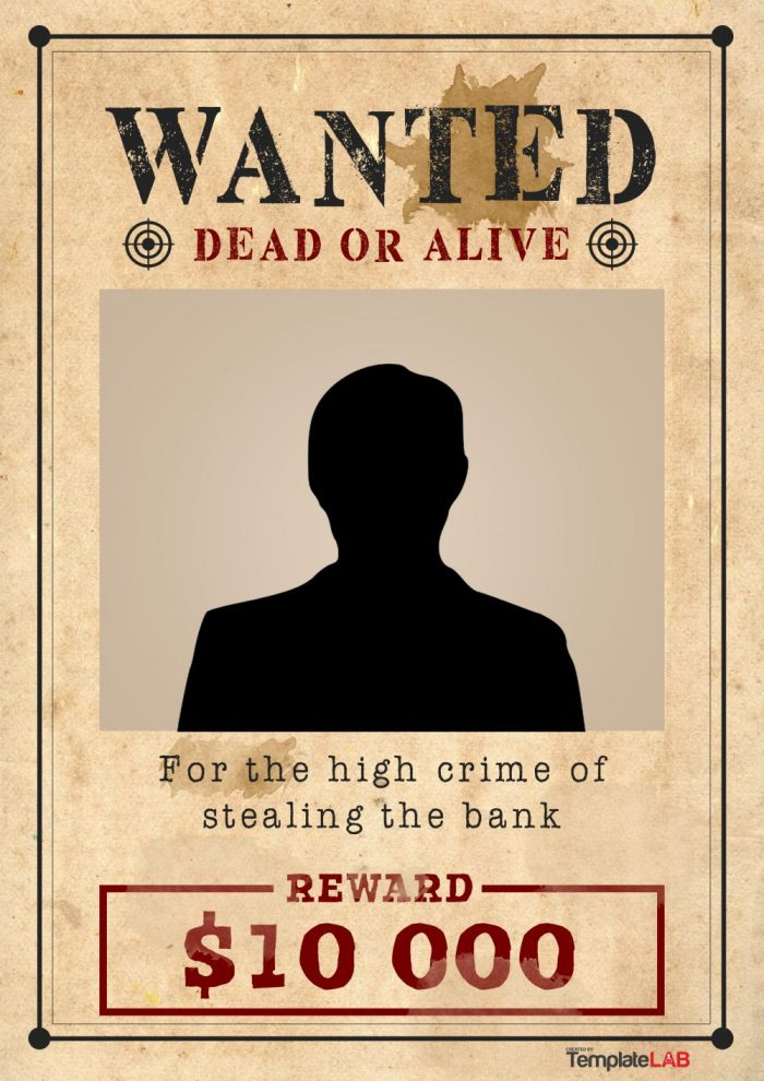 Having a hard time keeping up with your crazy schedule? 29 Free Wanted Poster Templates Fbi And Old West