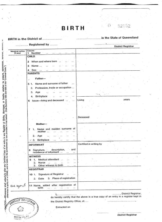real birth certificate template - official birth certificate template free download