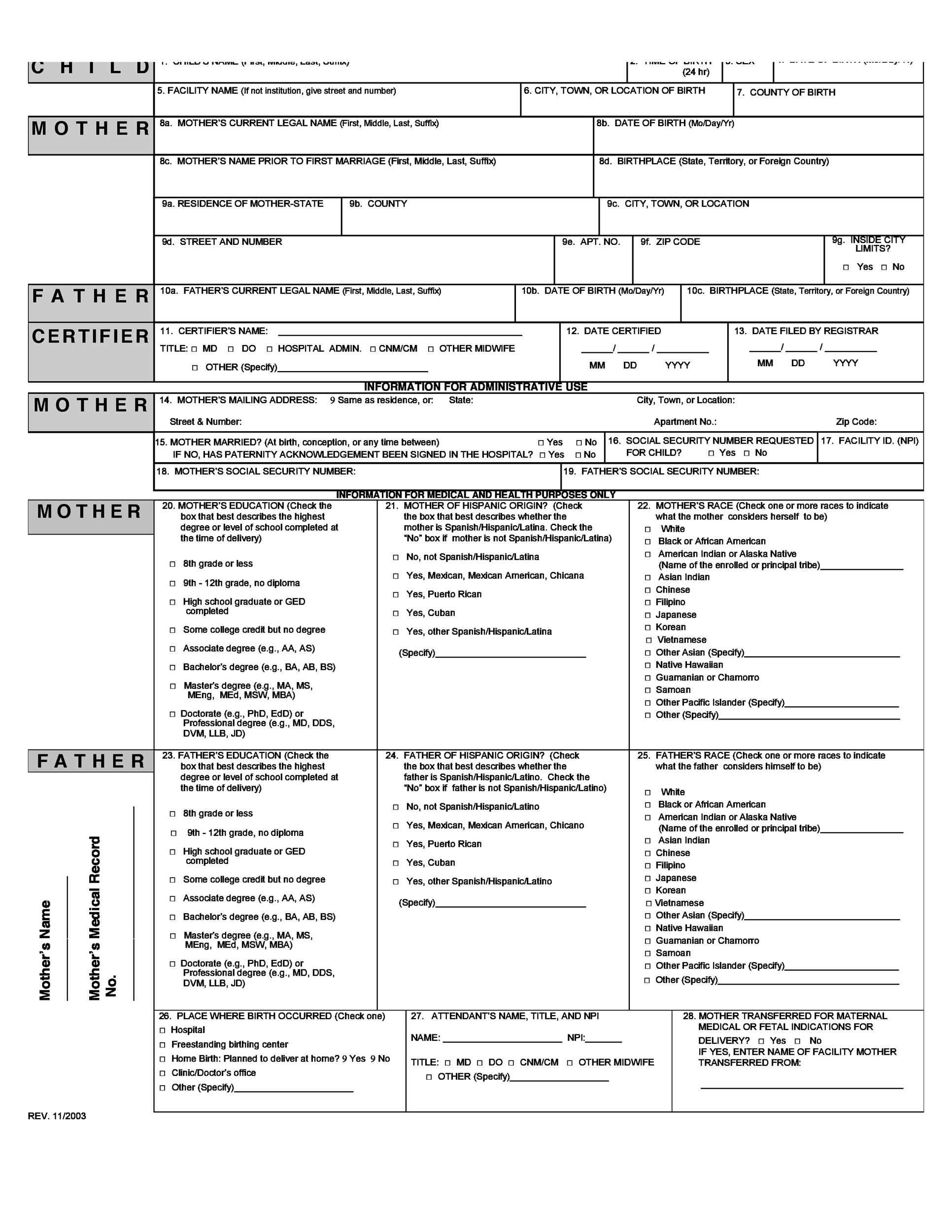 15 Birth Certificate Templates Word Amp