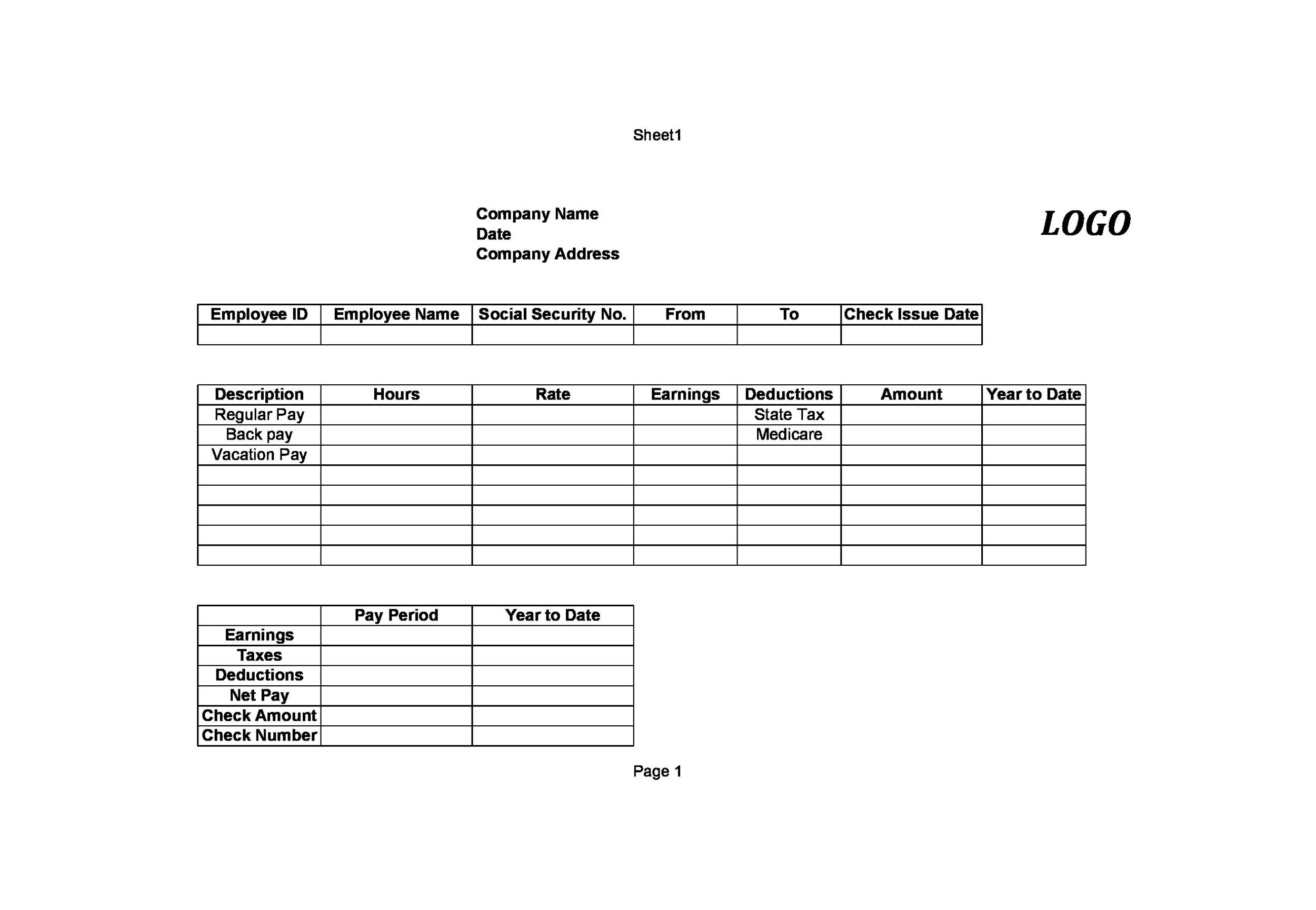 downloadable pay stub template