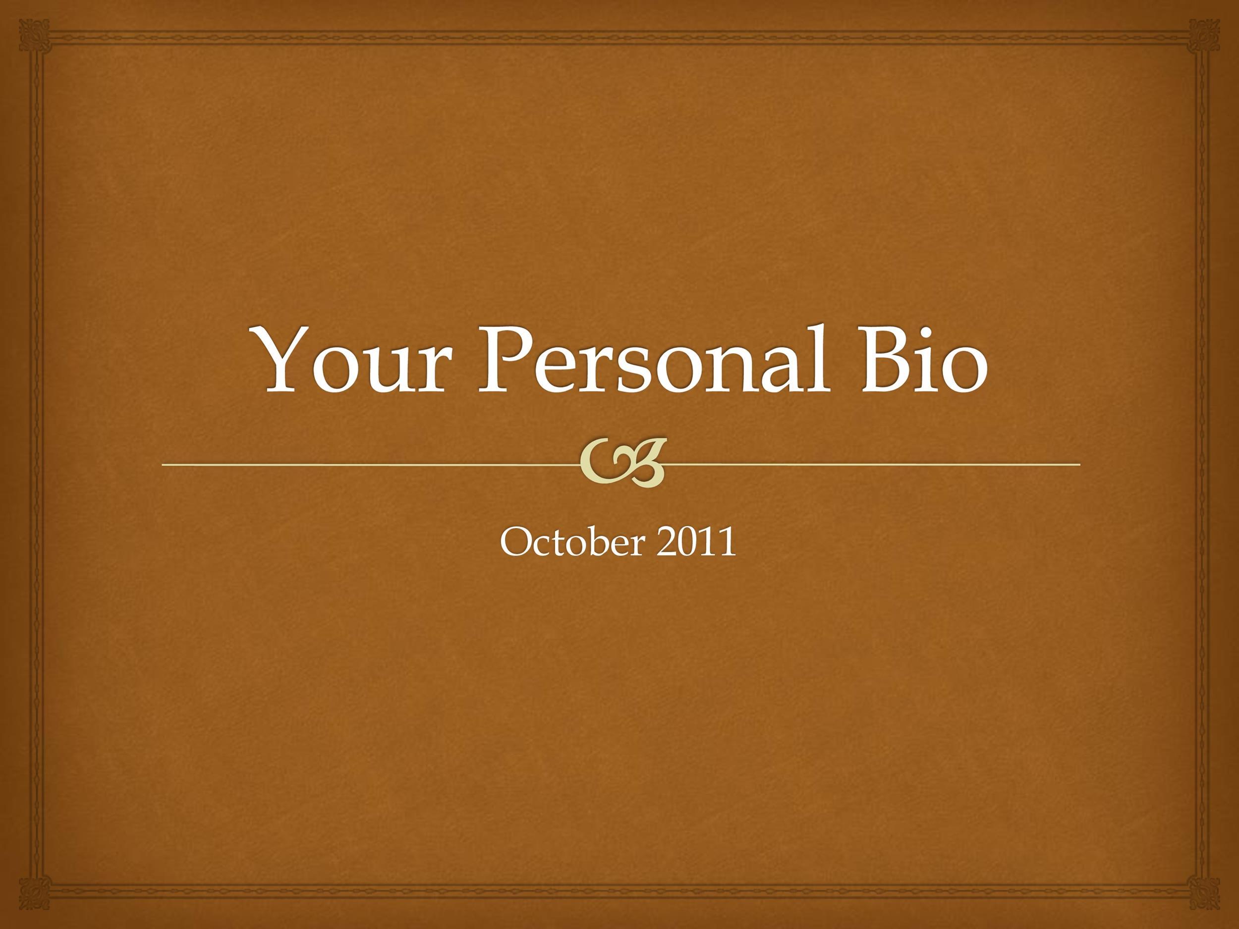 word bio template