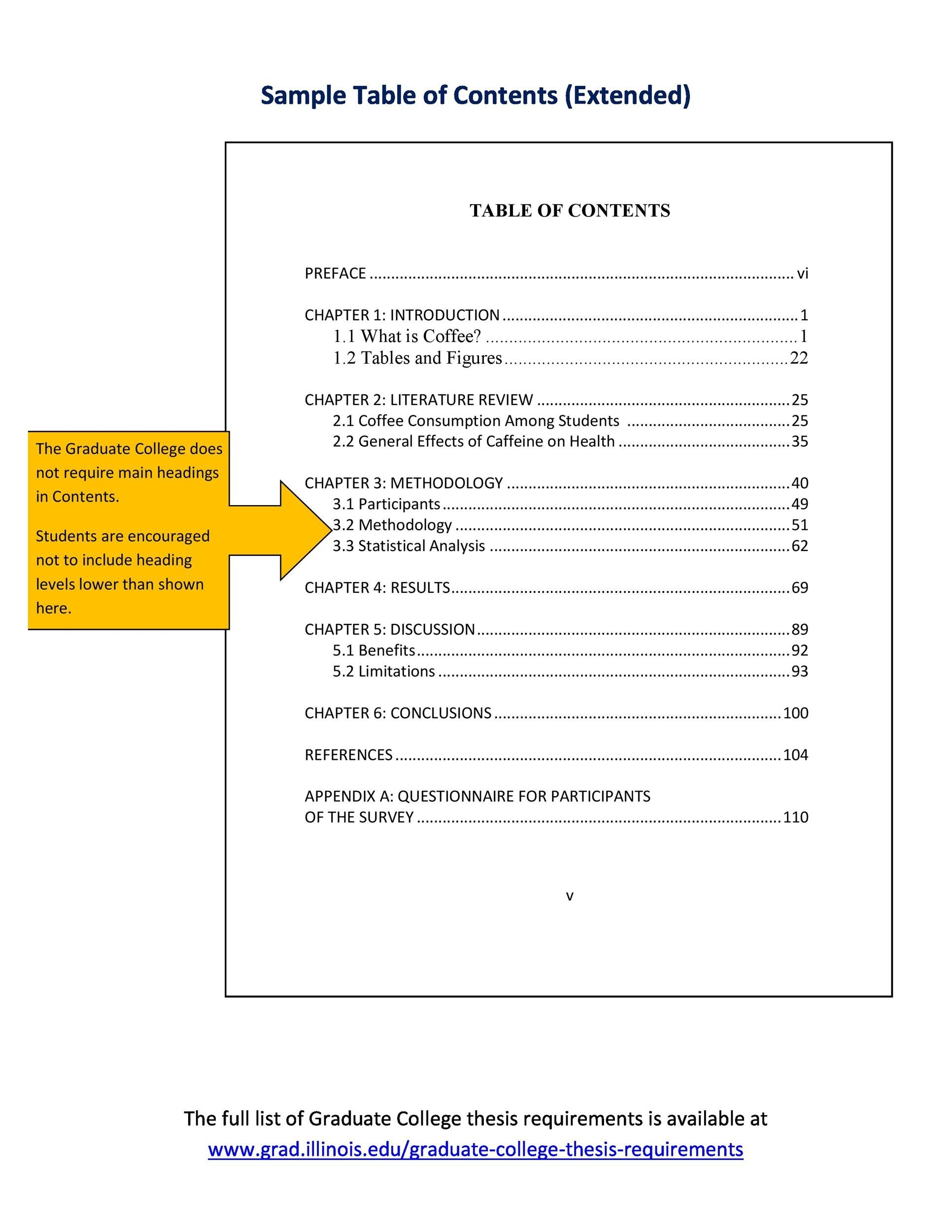 20 Table Of Contents Templates And Examples Templatelab