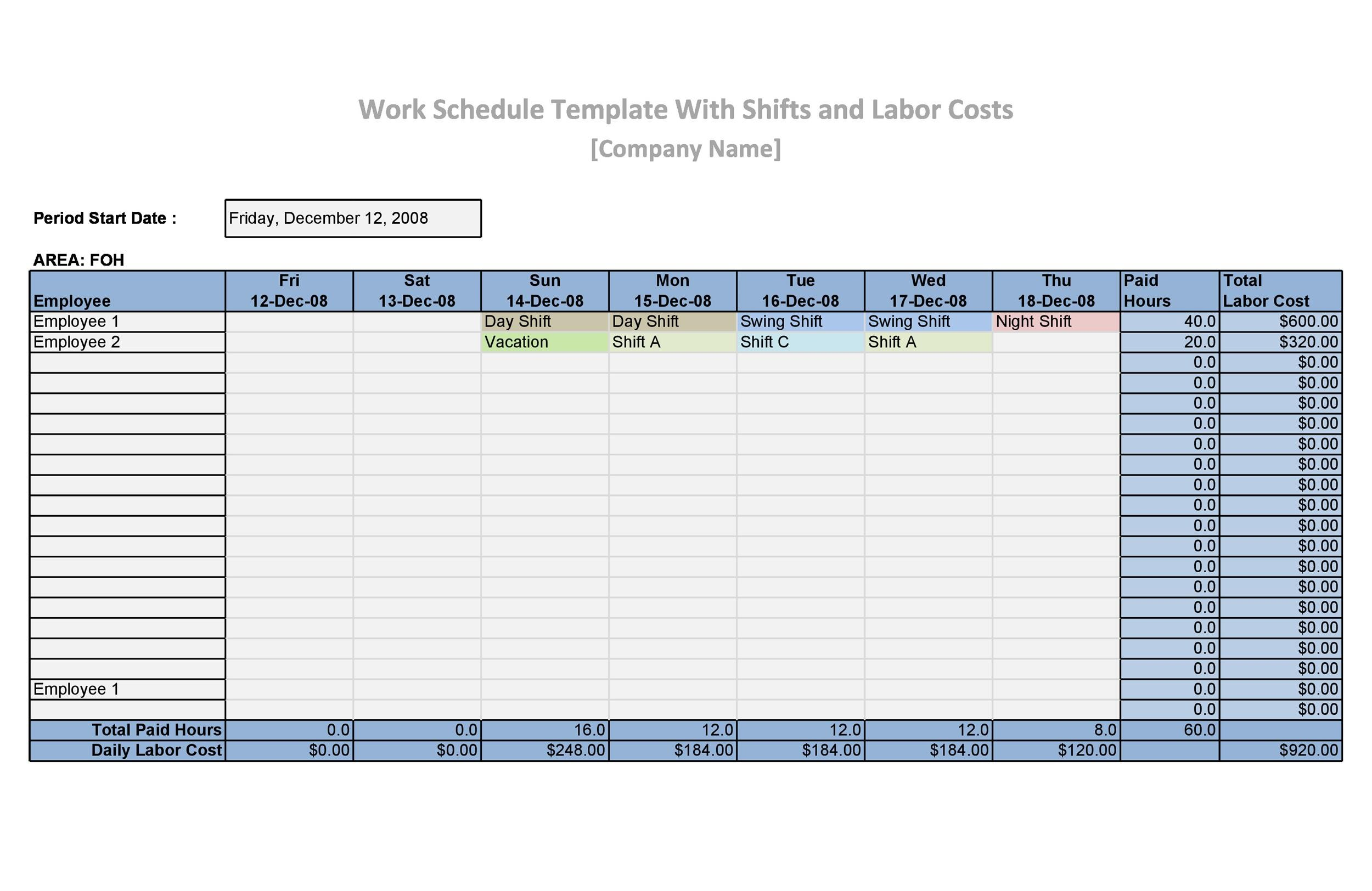 17 Perfect Daily Work Schedule Templates Templatelab