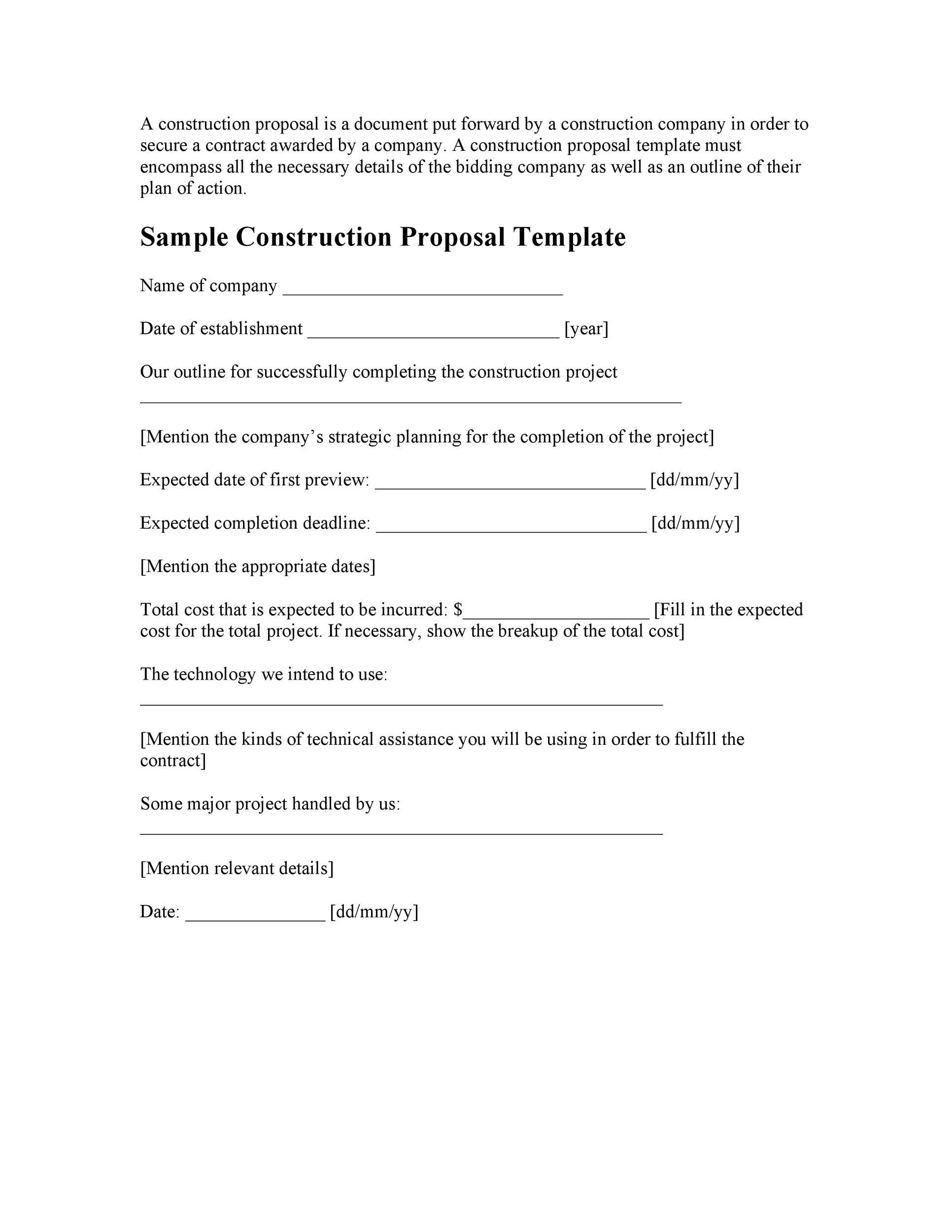 30 Business Proposal Templates Amp Proposal Letter Samples