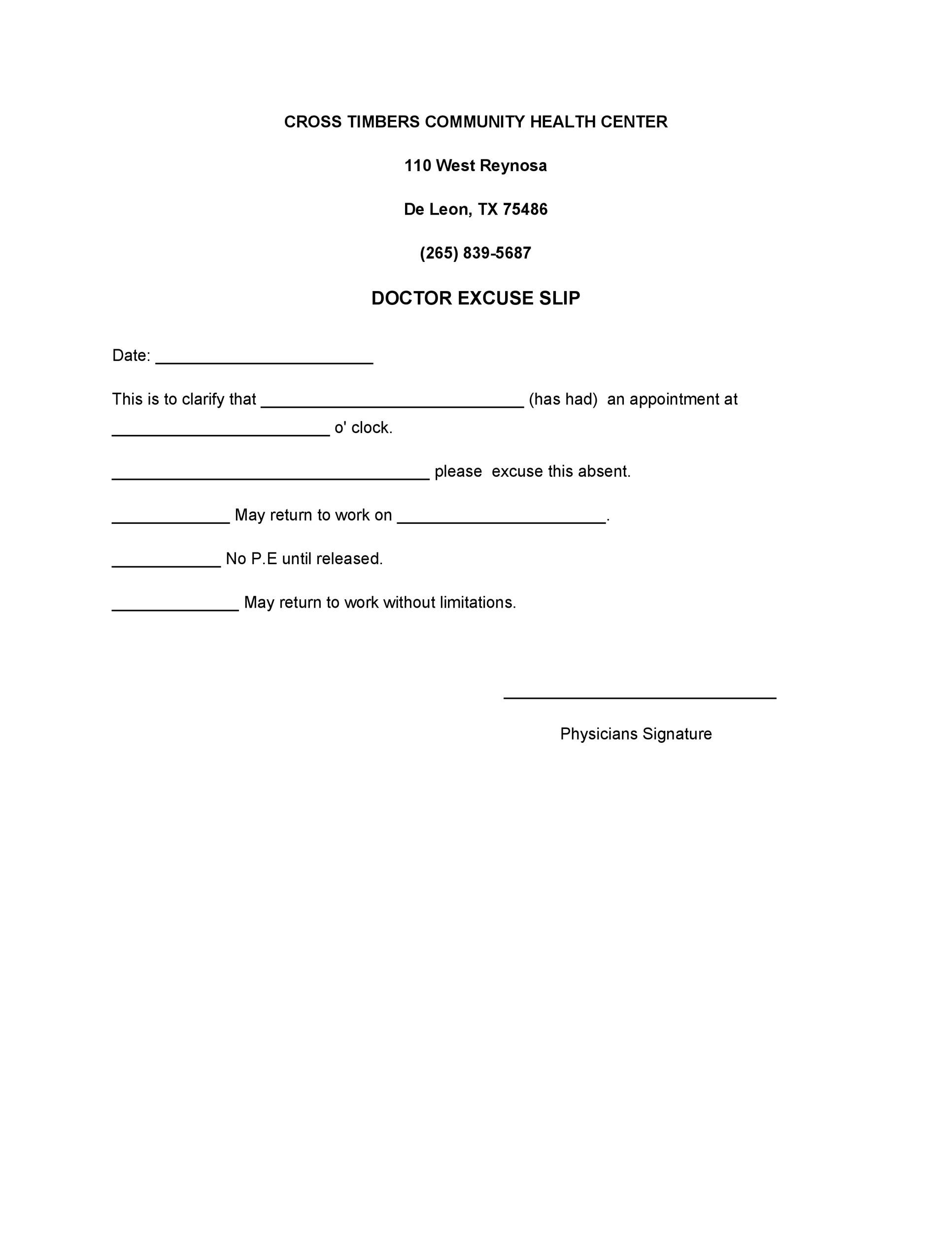 25+ Free Doctor Note / Excuse Templates ᐅ TemplateLab