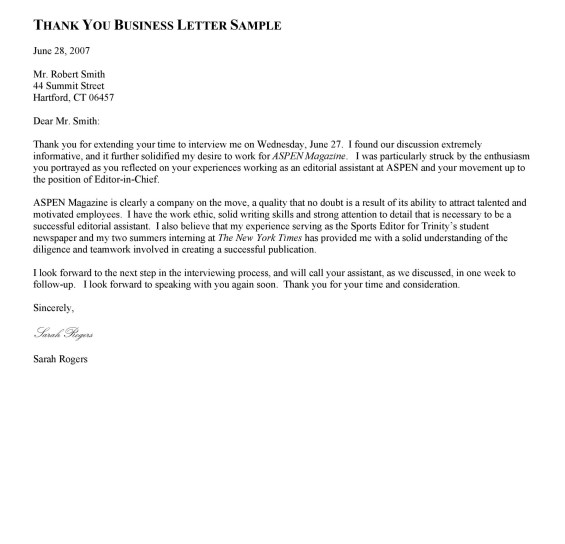 30 Thank You Letter Templates