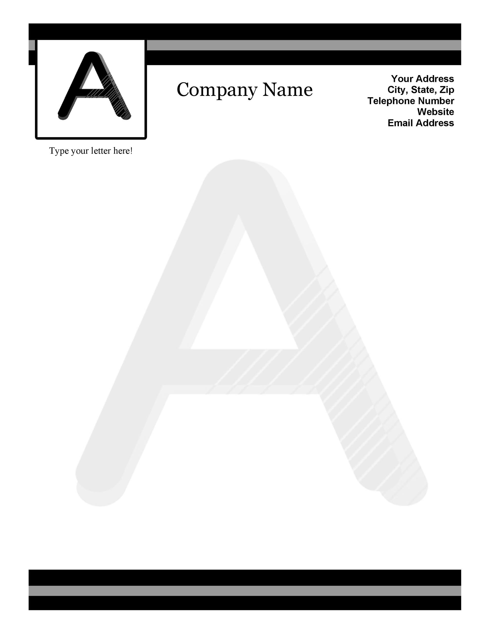 45+ Free Letterhead Templates & Examples (Company