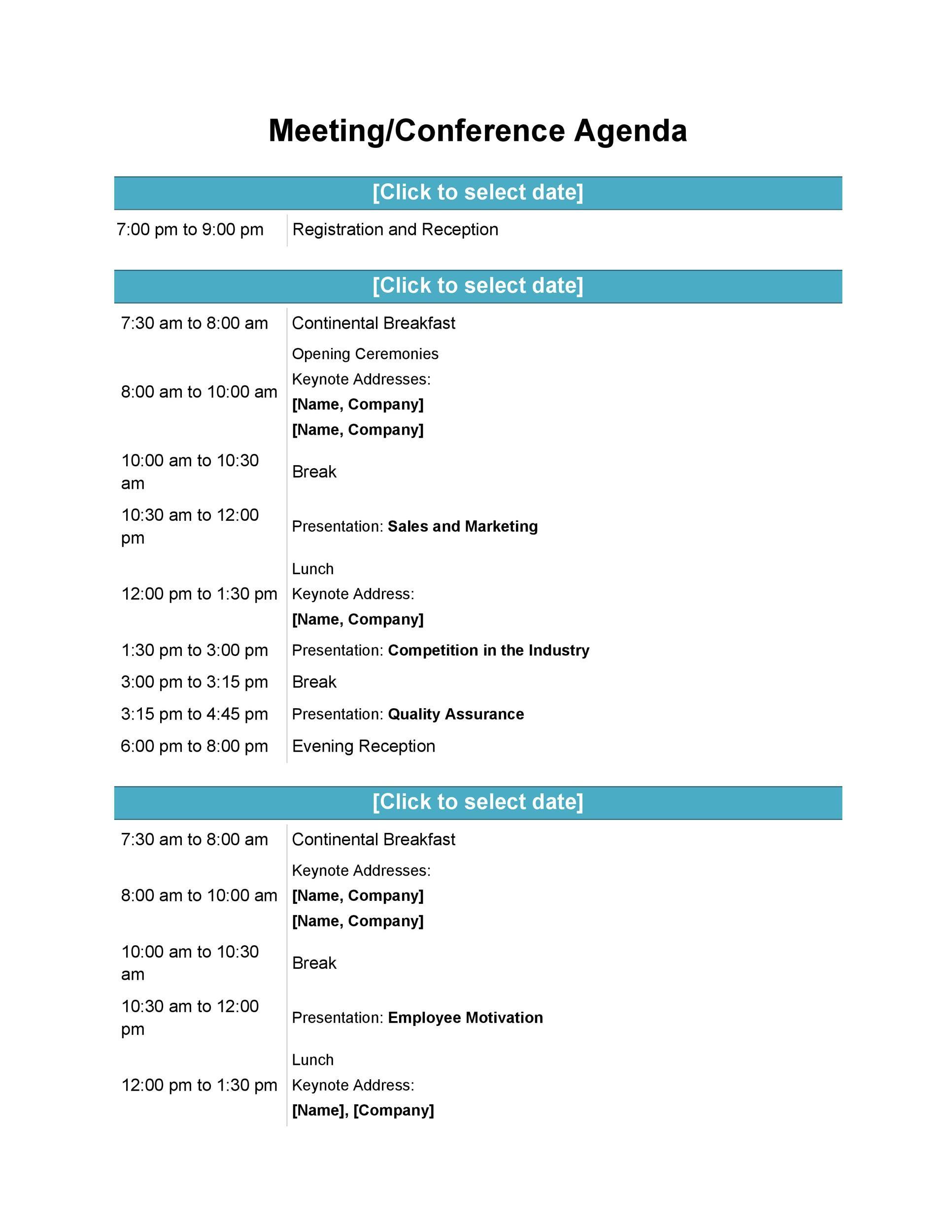 46 Effective Meeting Agenda Templates