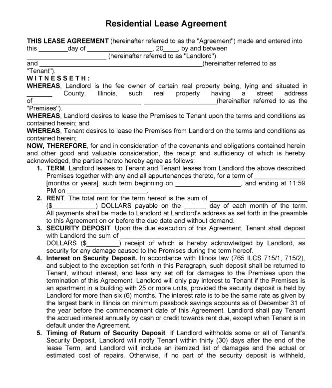 42 Al Lication Forms Lease Agreement Templates