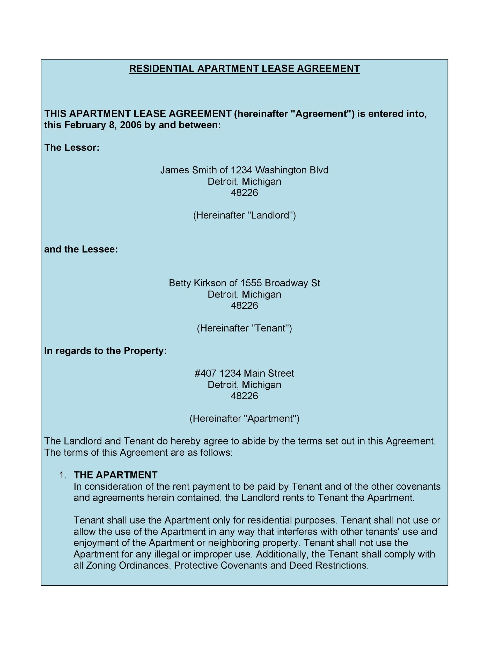 Apartment Lease Agreements Mwb Online Co
