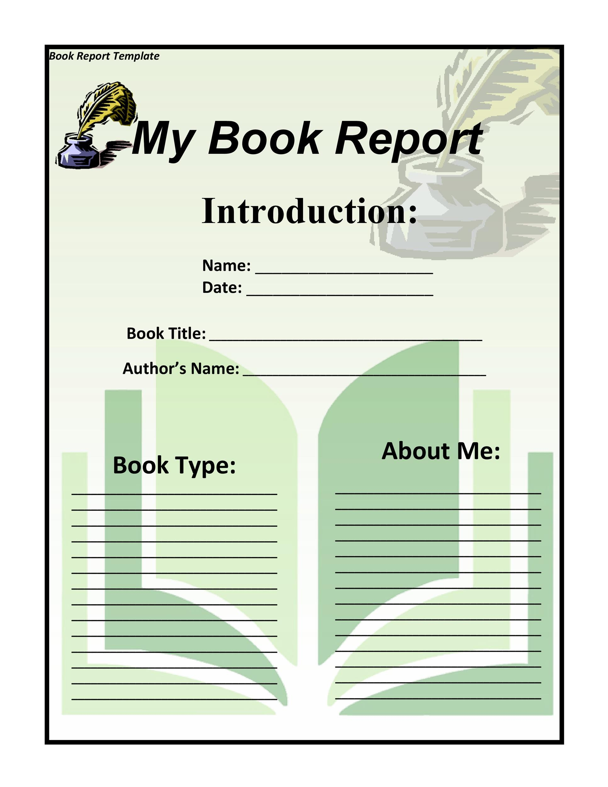Irresistible Free Printable Book Report Forms