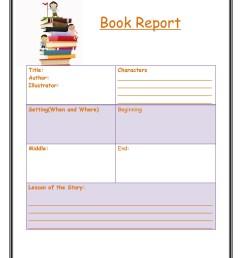 30 Book Report Templates \u0026 Reading Worksheets [ 2500 x 1932 Pixel ]