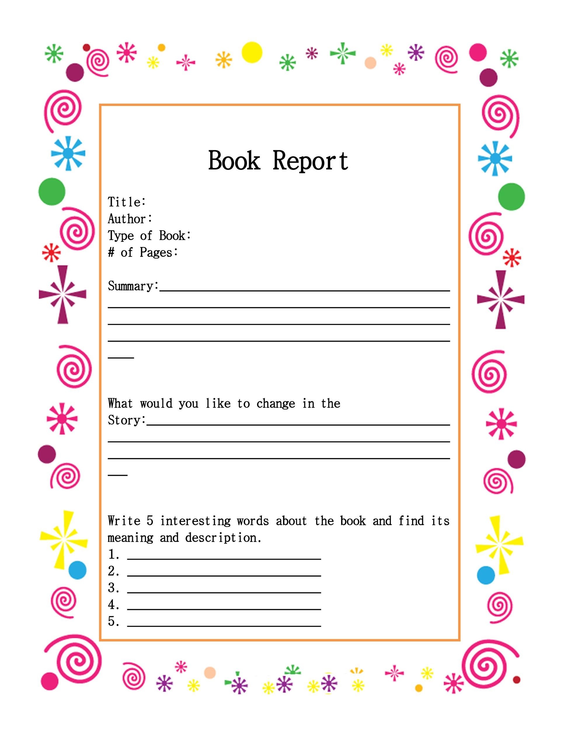 hight resolution of 30 Book Report Templates \u0026 Reading Worksheets