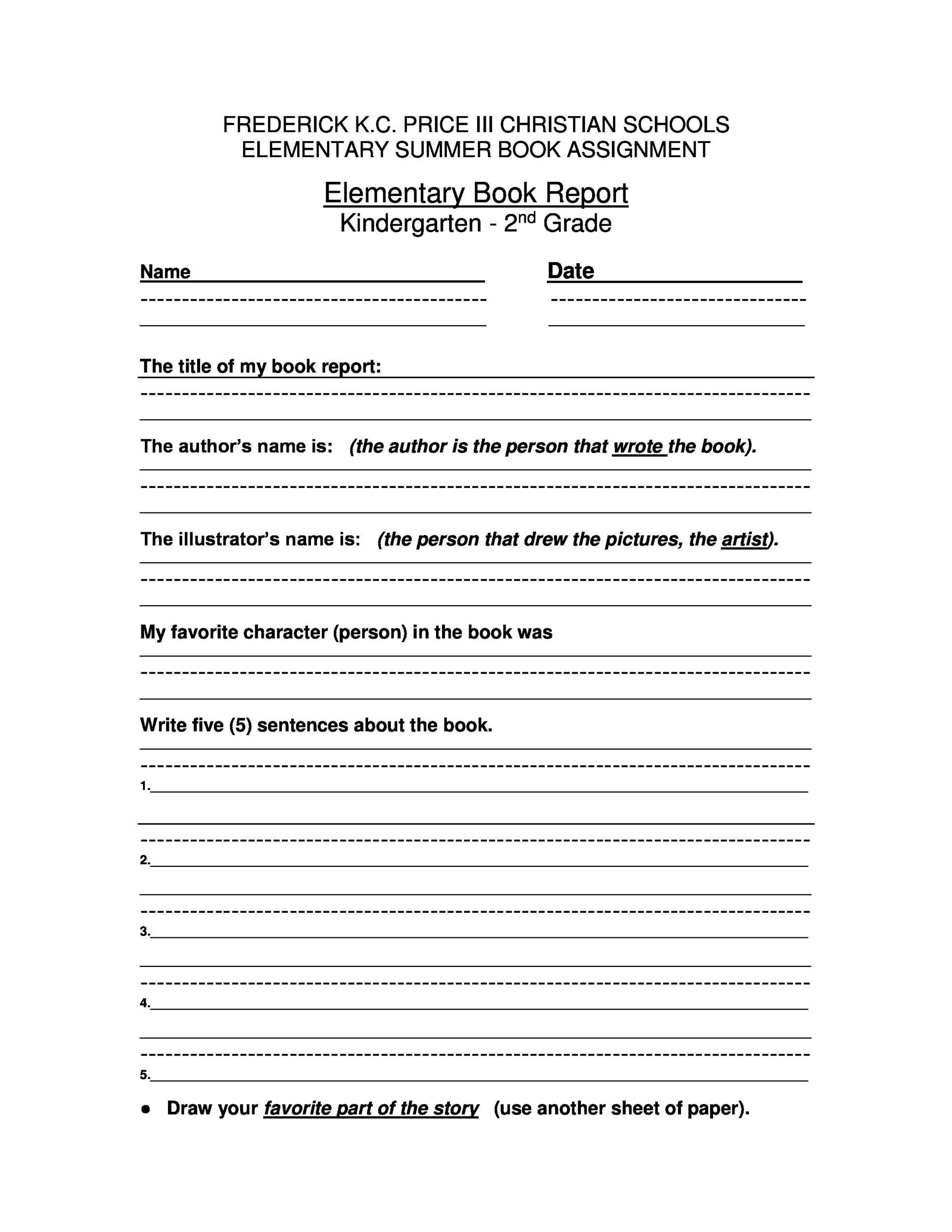 Usmc Book Report Template