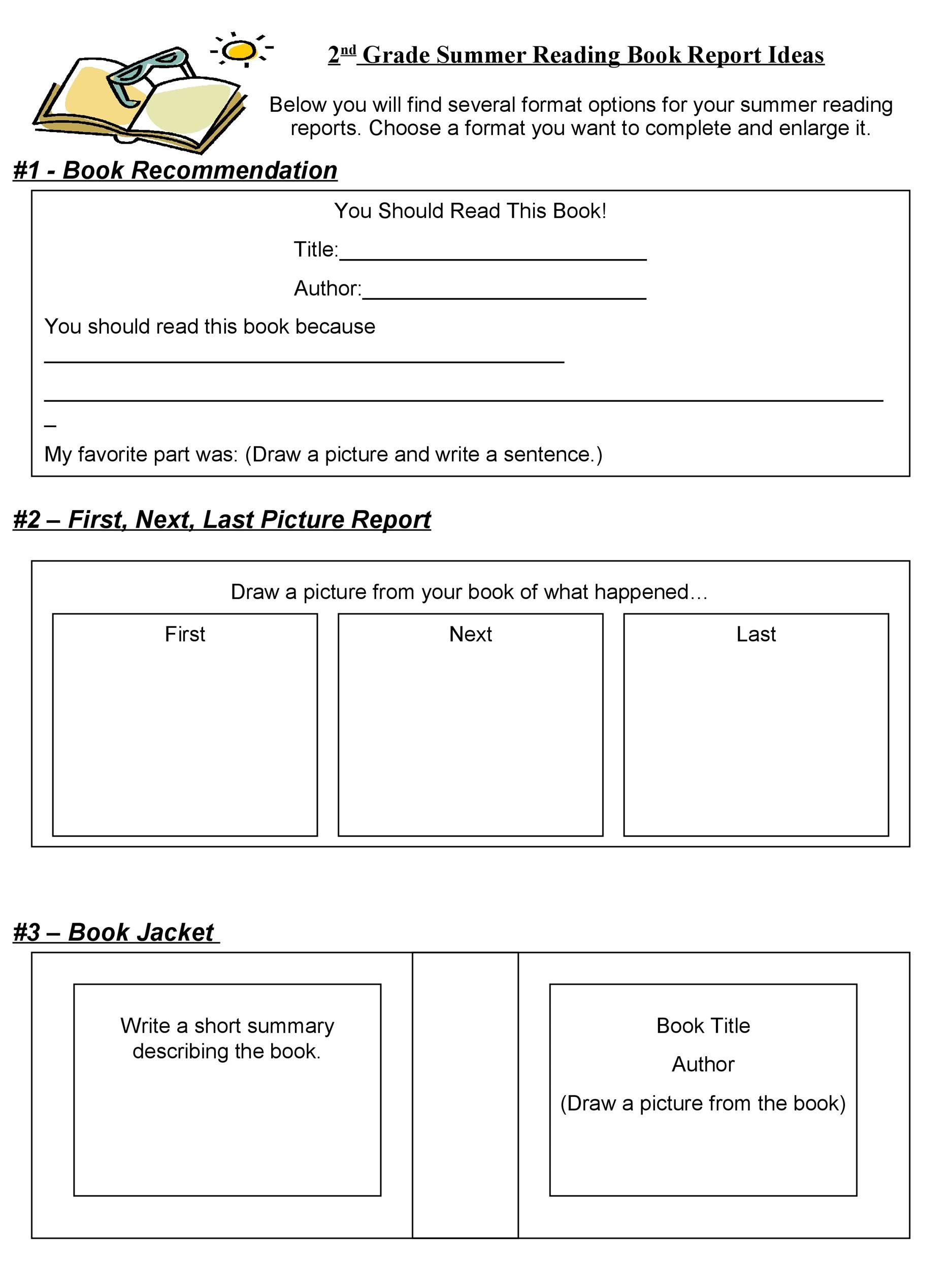 Reading Worksheet Middle School Report