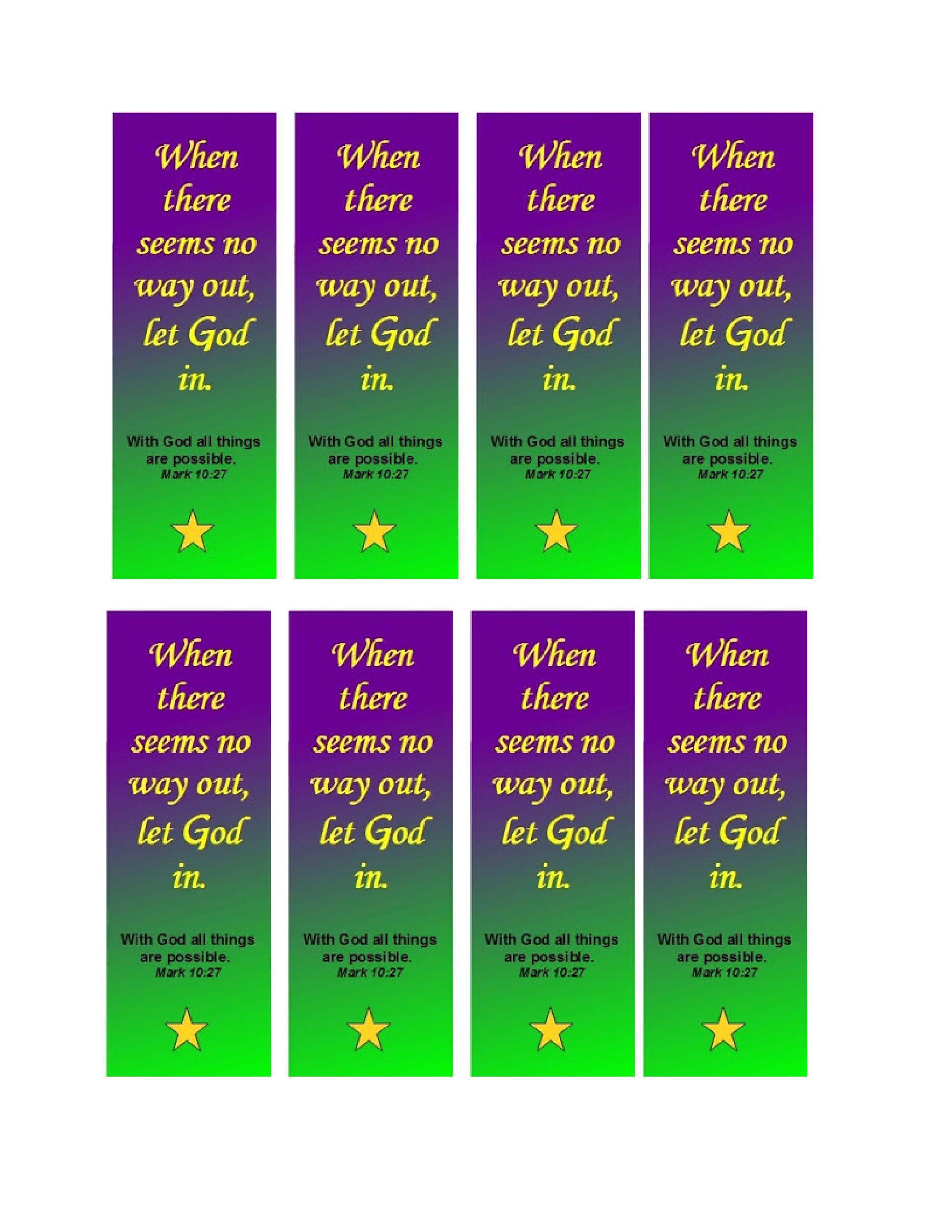 40 Free Printable Bookmark Templates Template Lab