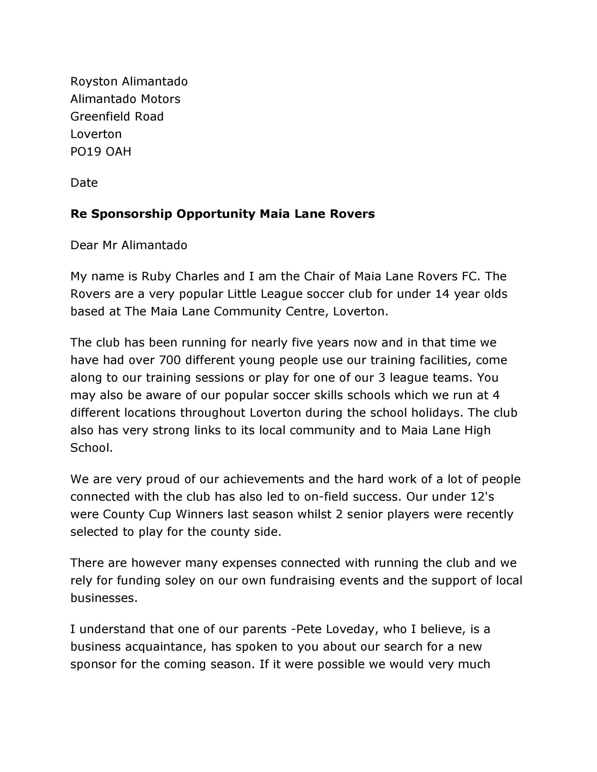 40+ Sponsorship Letter & Sponsorship Proposal Templates