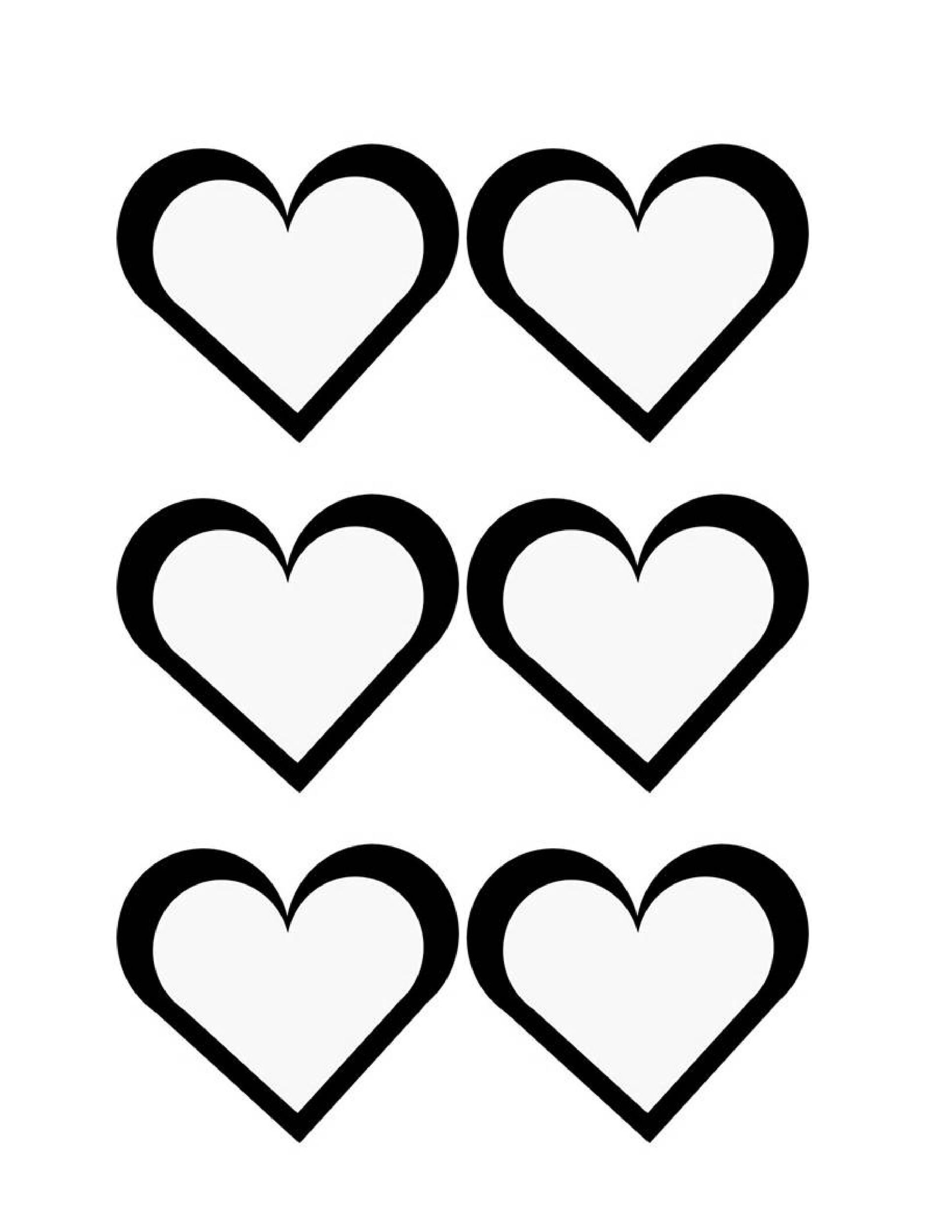 Bewitching Printable Heart Shape