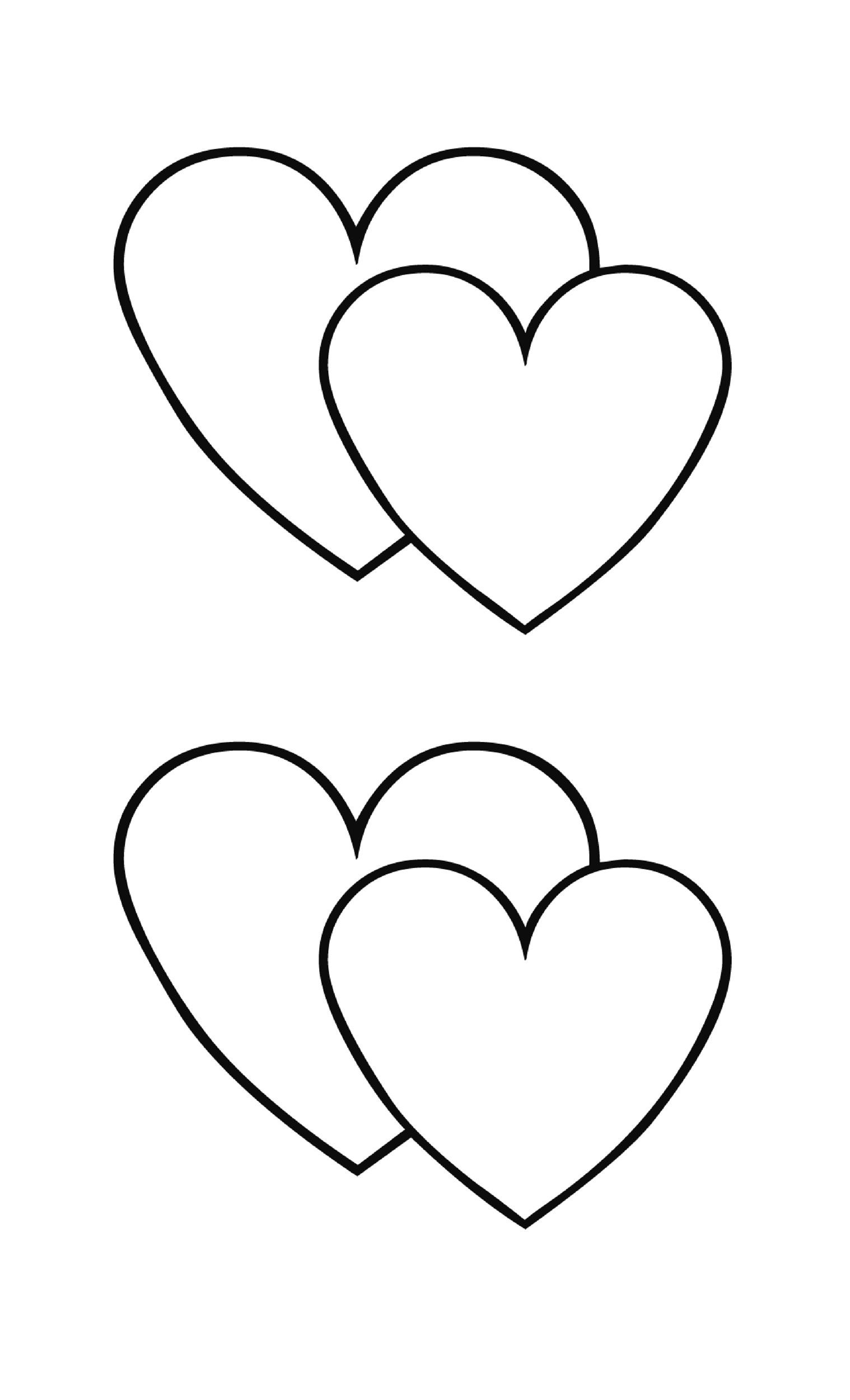 40 Printable Heart Templates & 15 Usage Examples