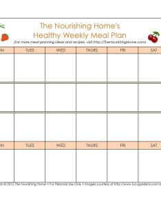 Free meal plan template also weekly planning templates lab rh templatelab