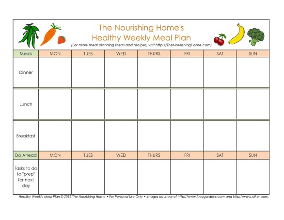40+ Weekly Meal Planning Templates ᐅ TemplateLab