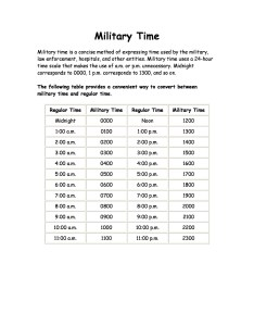 Free military time chart template also printable charts lab rh templatelab