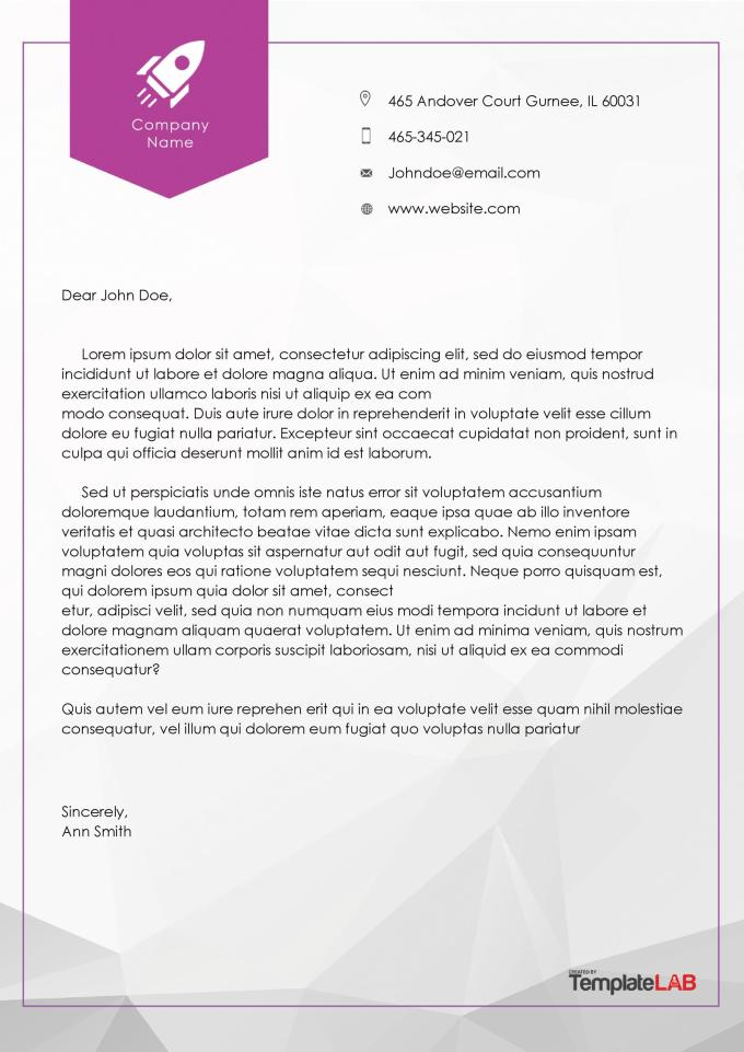 Company letter headed paper template textpoems 45 free letterhead templates examples company business personal accmission Choice Image