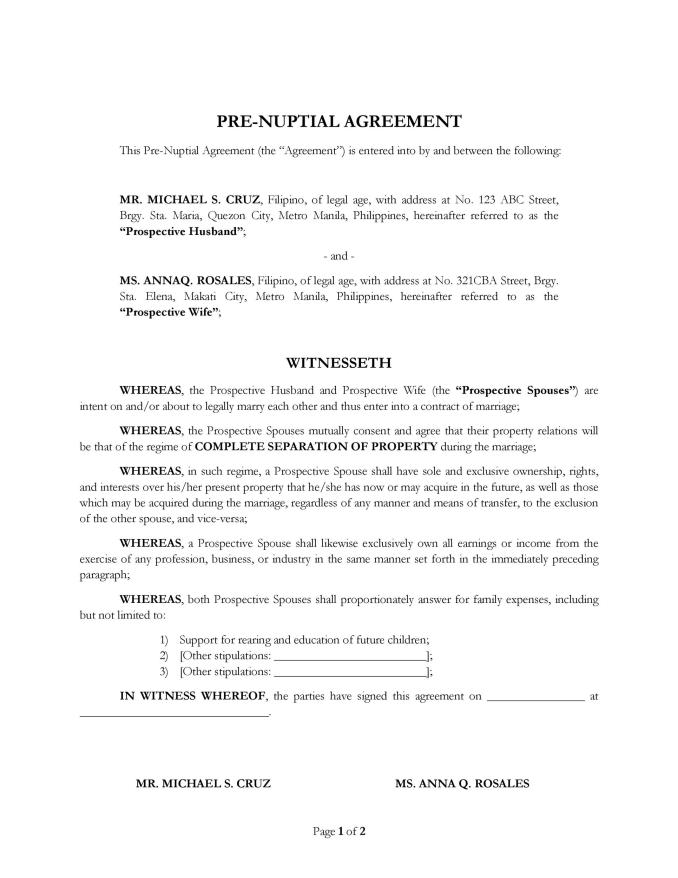 Sample Child Support Agreement Letter Philippines Newsinvitation