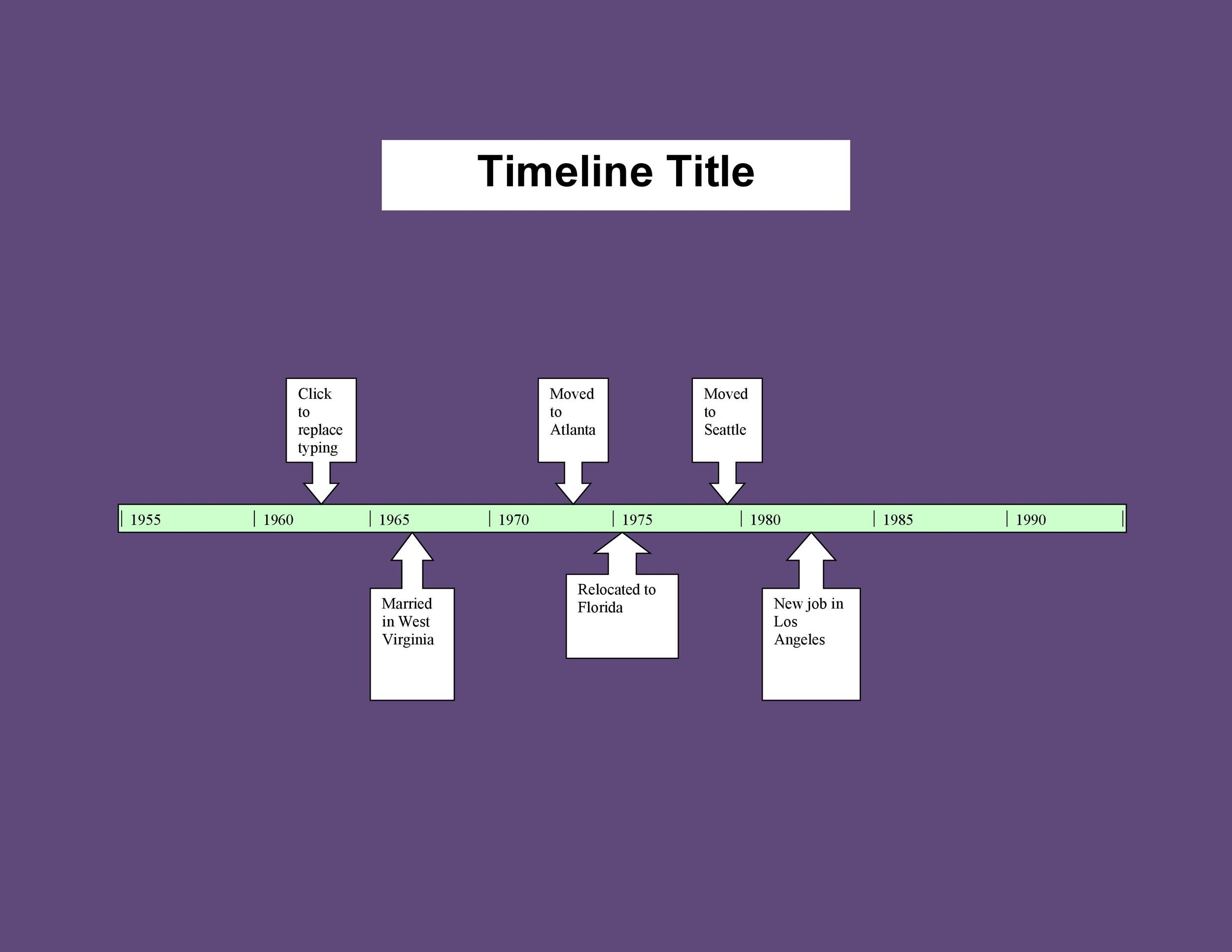 30 Timeline Templates Excel Power Point Word