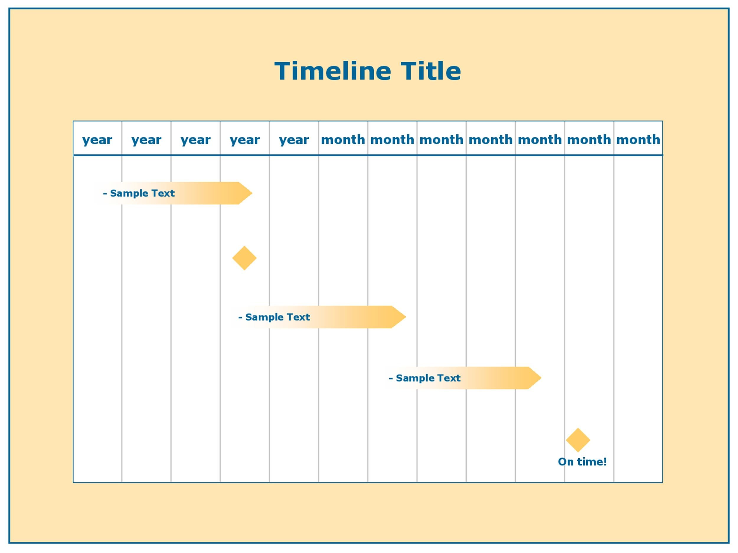 make timeline excel