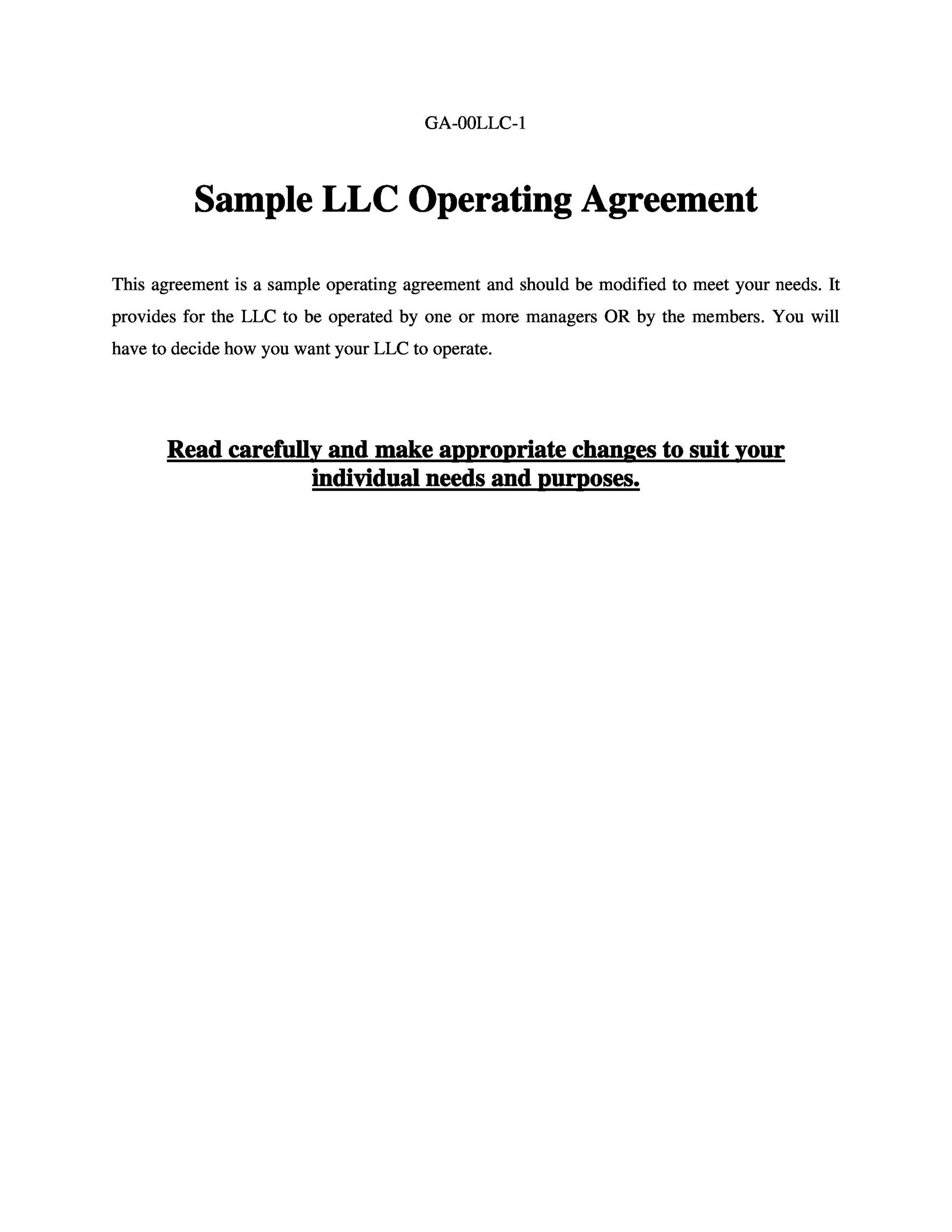 However, it is still wise. 30 Professional Llc Operating Agreement Templates Á… Templatelab