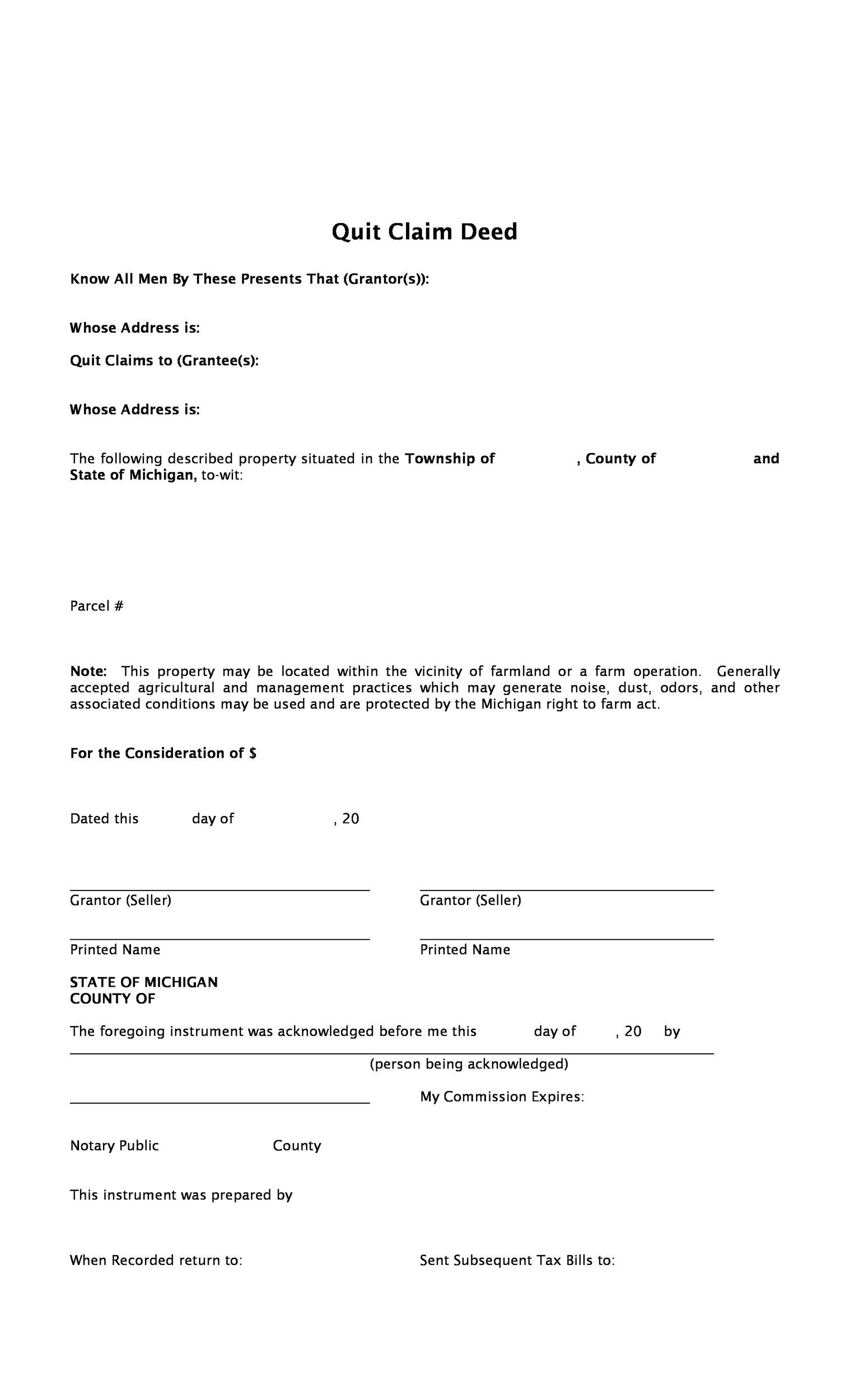 quick claim deed form free  Quit Claim Deed Form Iowa Free   How To Include Keywords In ...