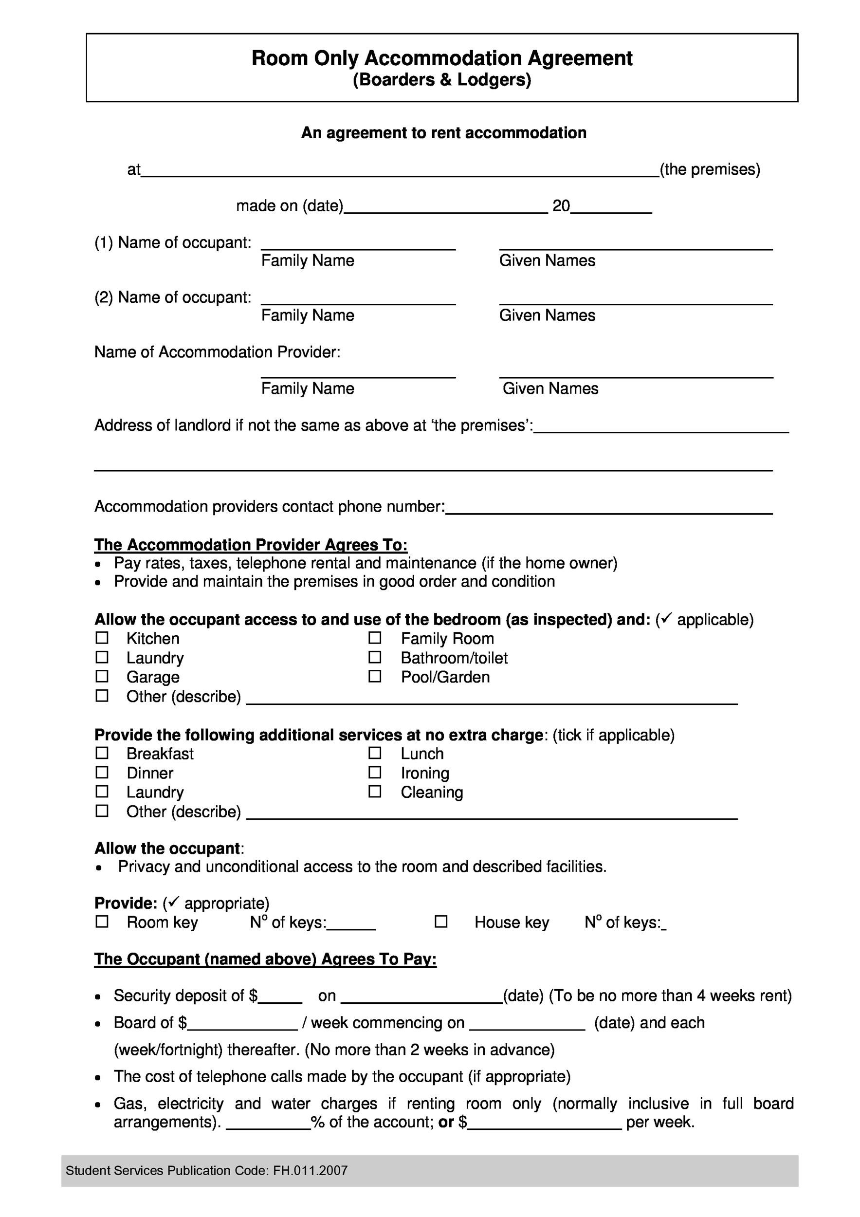 Legal Roommate Agreement Contract Sample Application Letter Fresh
