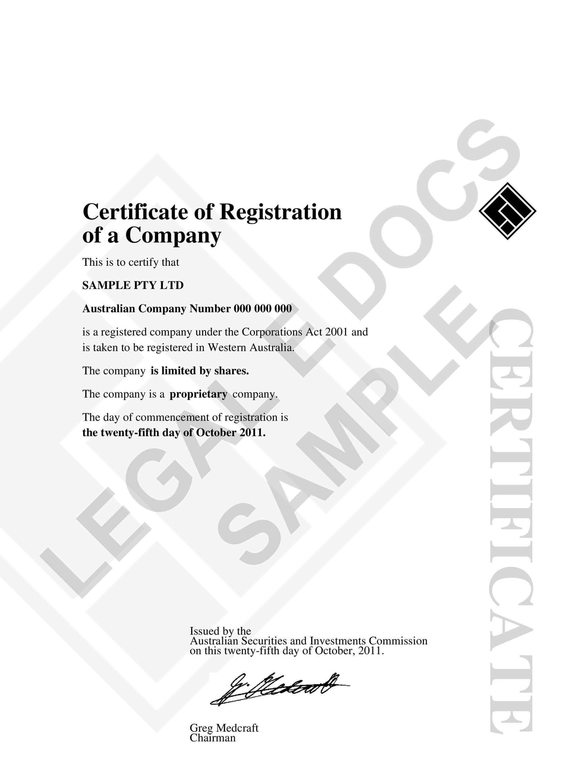 stock share certificate template – Stock Certificate Template