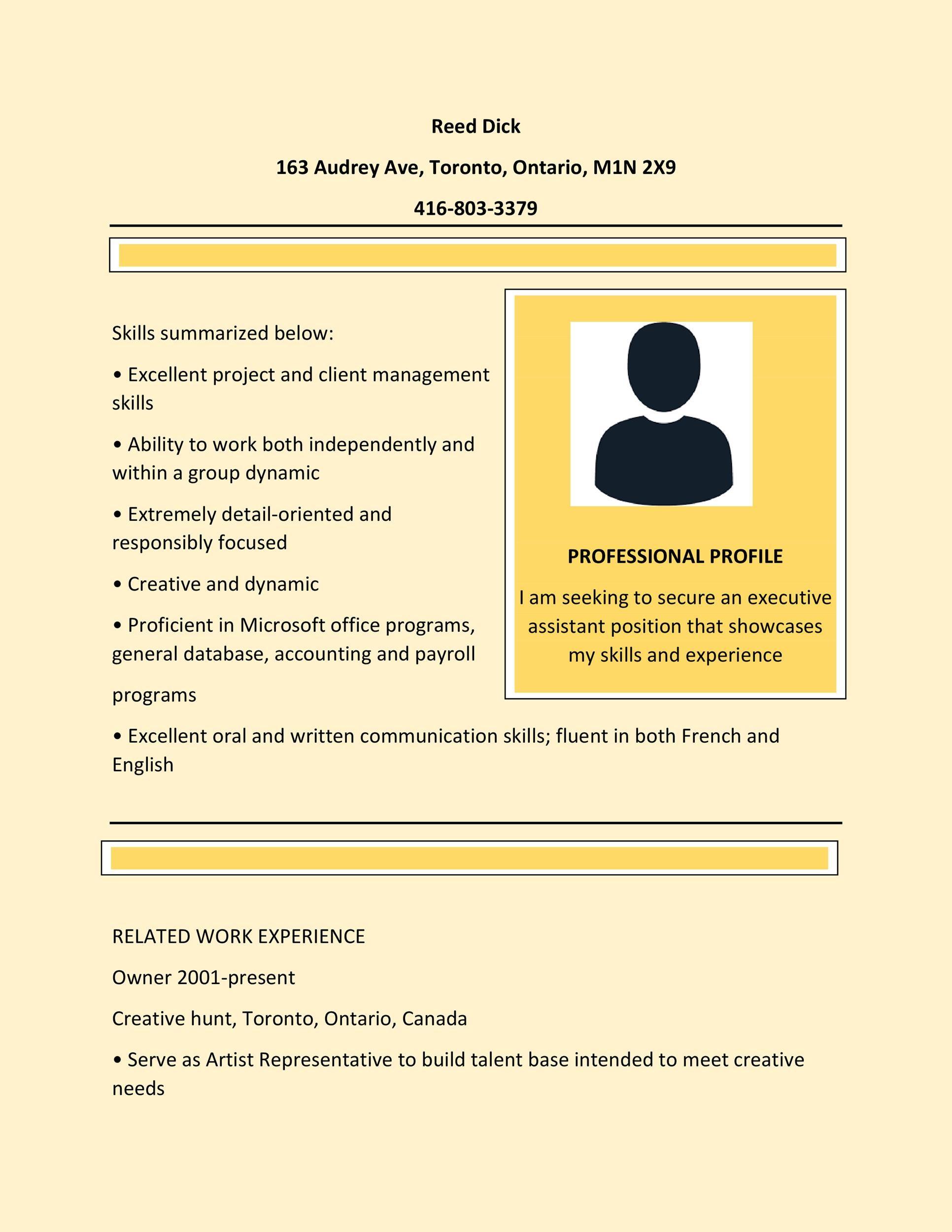 resume graphic designer no experience