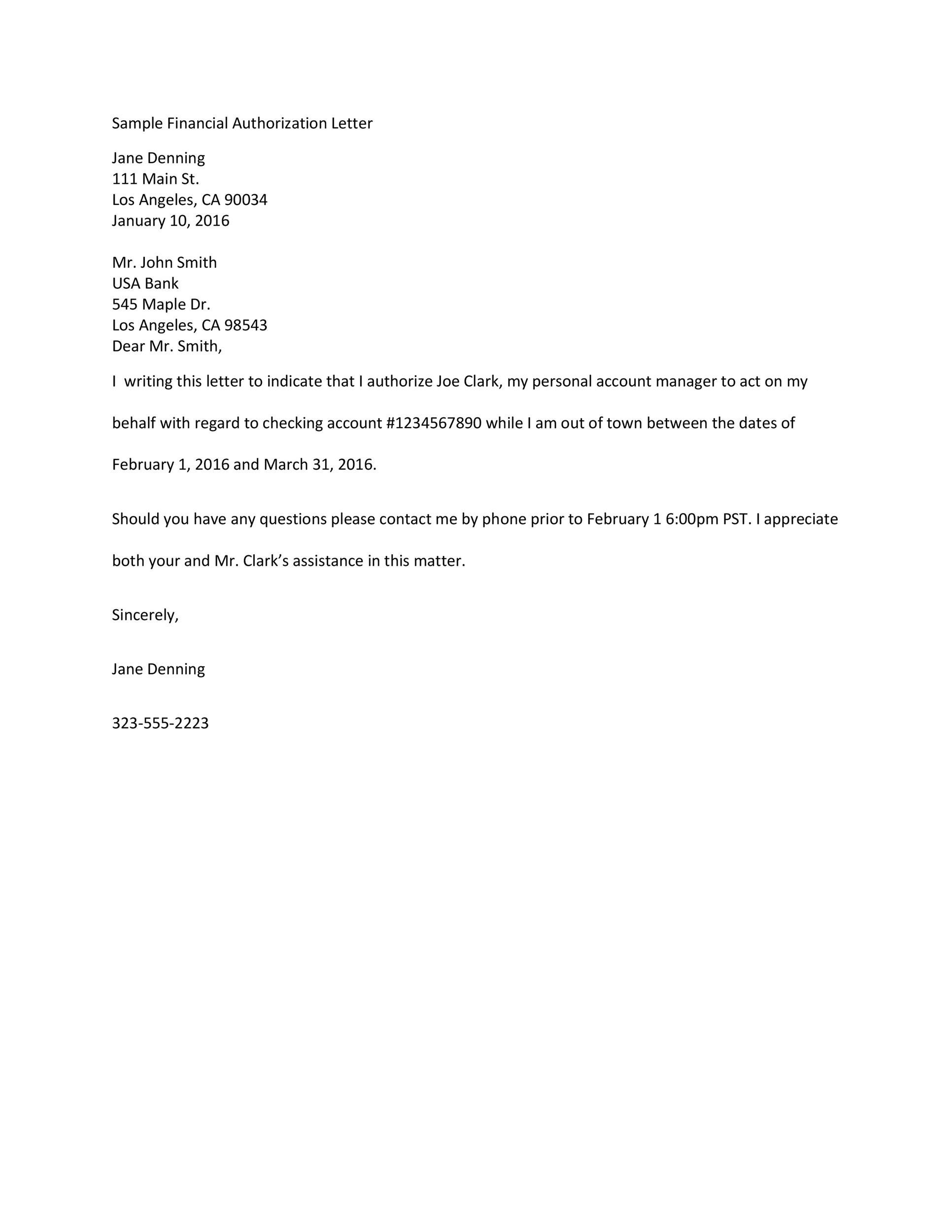 46 Authorization Letter Samples  Templates  Template Lab