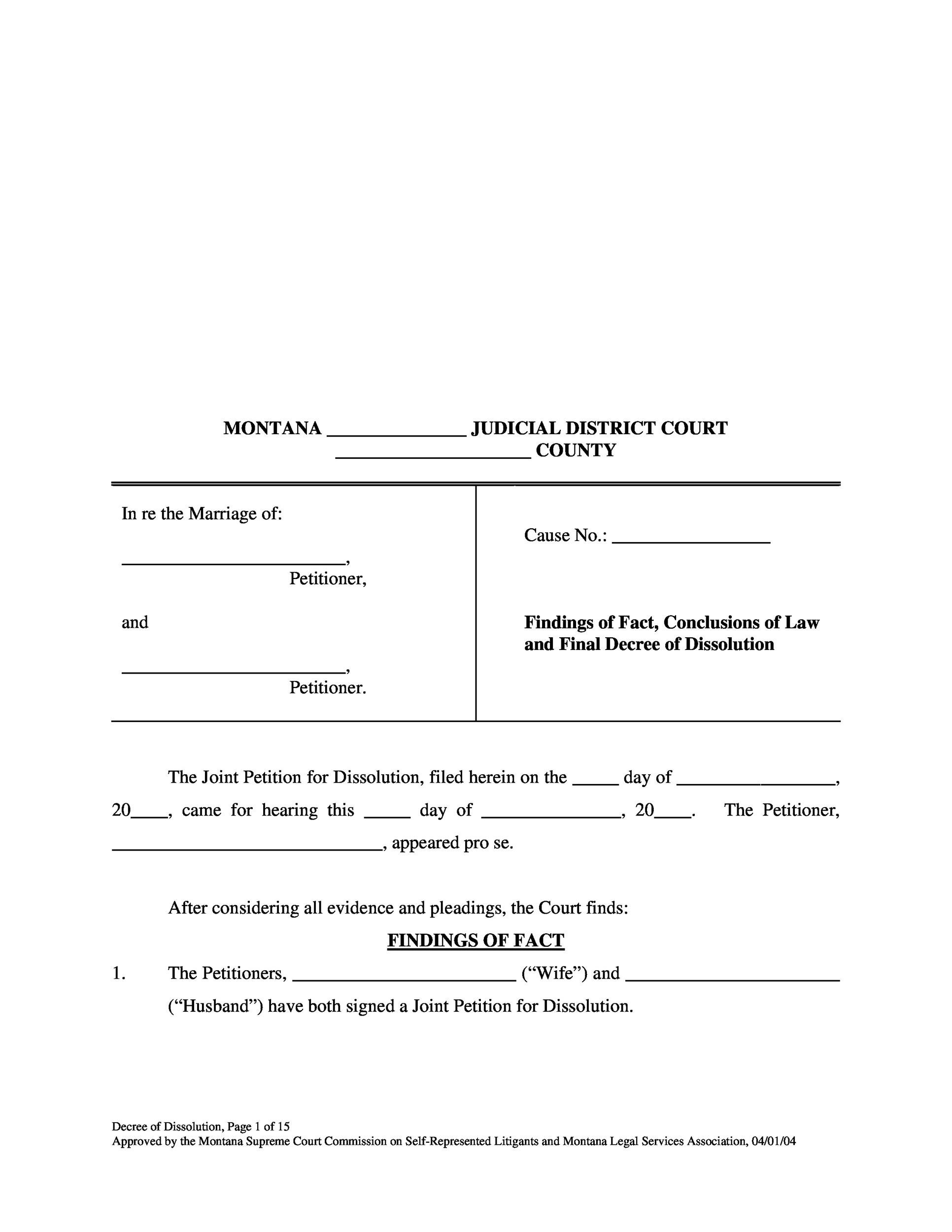 40 Free Divorce Papers Printable Templatelab