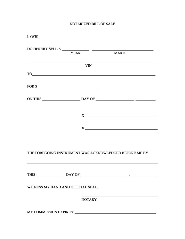17+ Fee Printable Bill of Sale Templates (Car, Boat, Gun, Vehicle