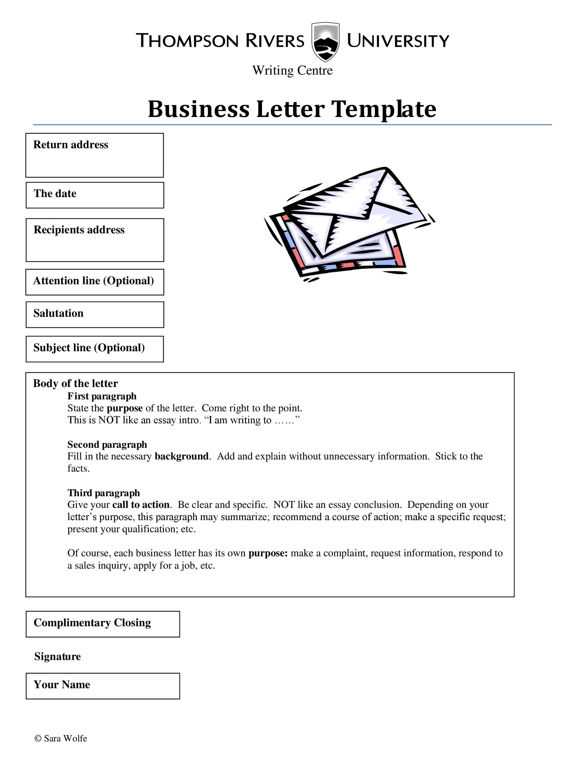 hight resolution of free formal business letter 03