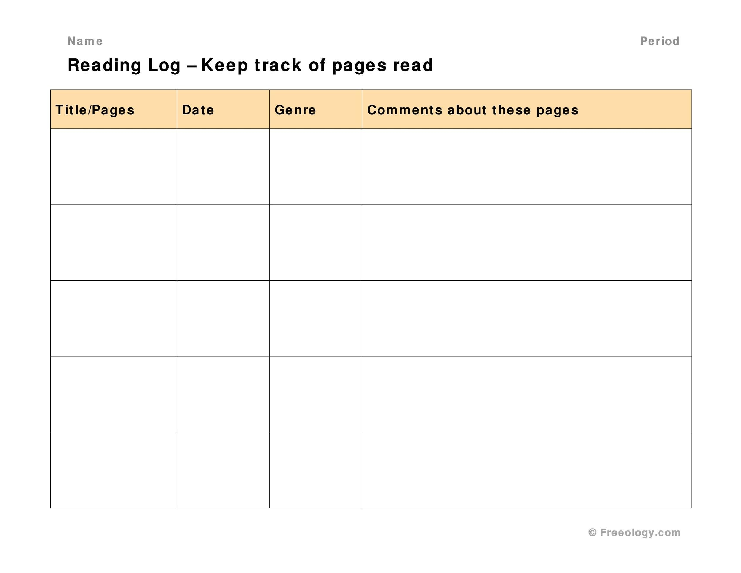 Reading Log With Summary Printable That Are Effortless
