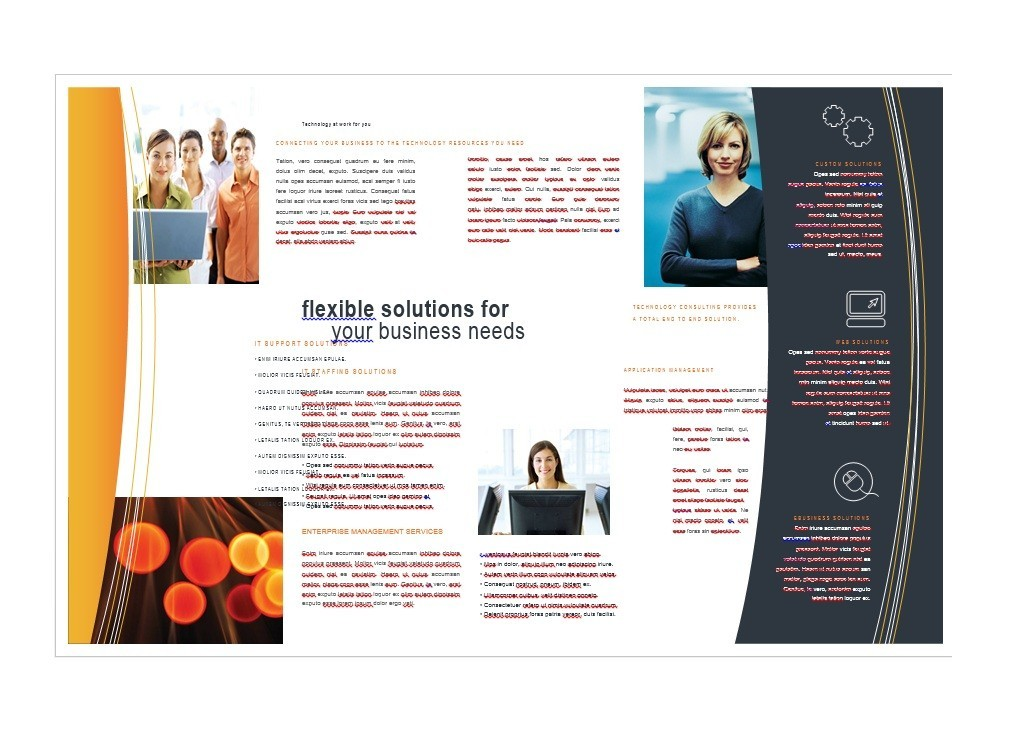 One Page Brochure Template Word Ideal Vistalist Co